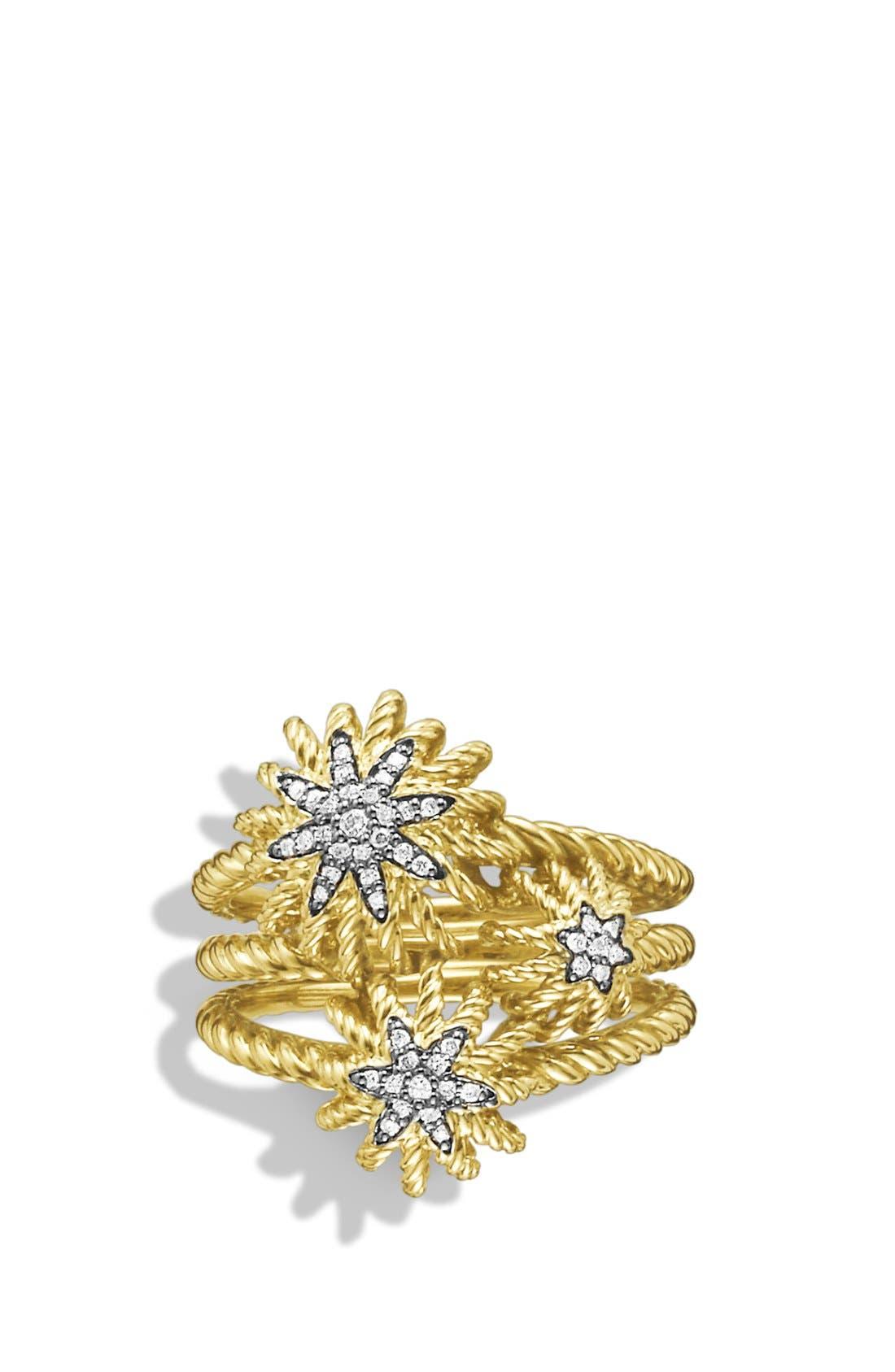 Alternate Image 3  - David Yurman 'Starburst' Cluster Ring with Diamonds in Gold