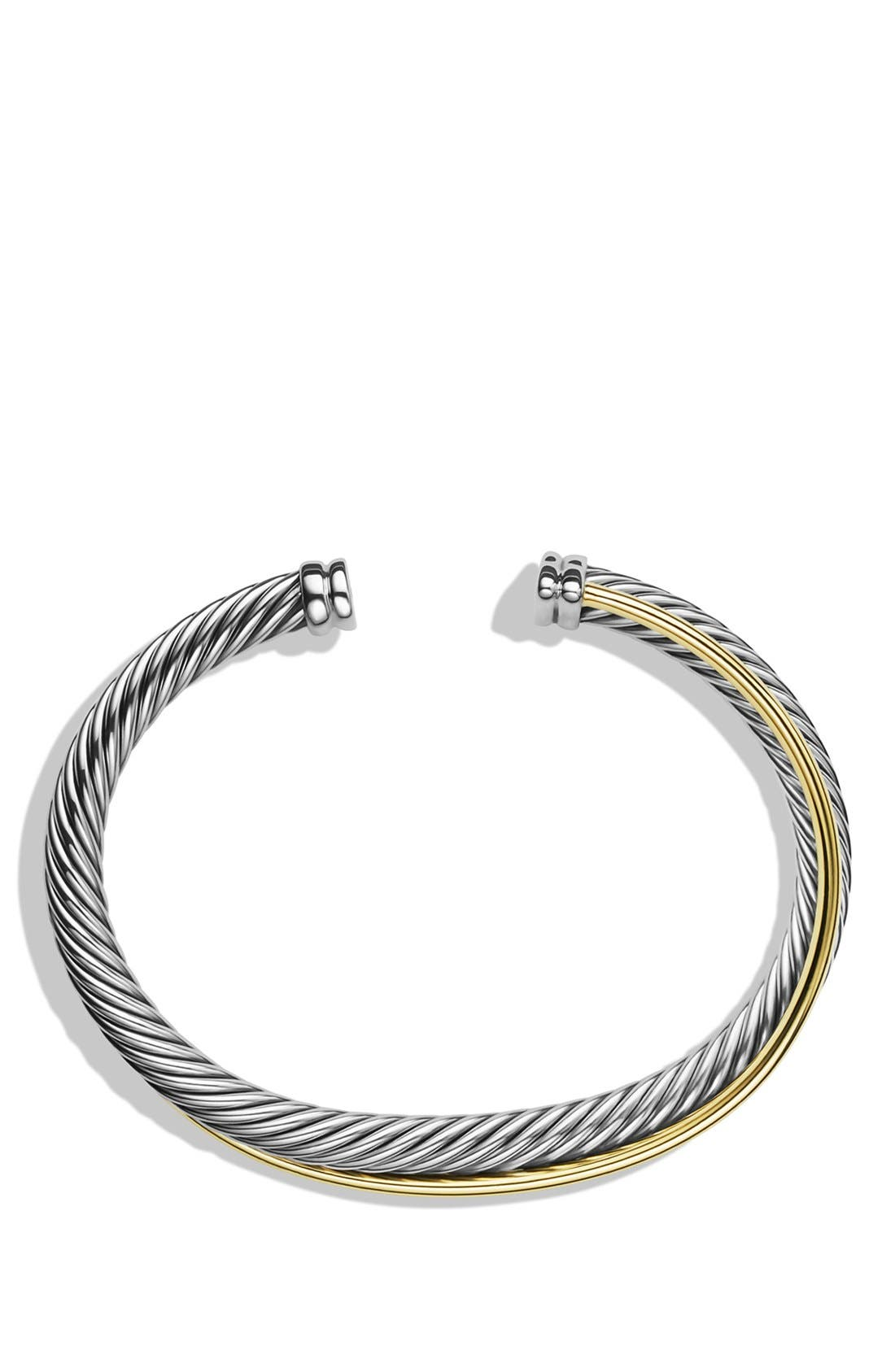 Alternate Image 2  - David Yurman 'Crossover' Cuff with Gold