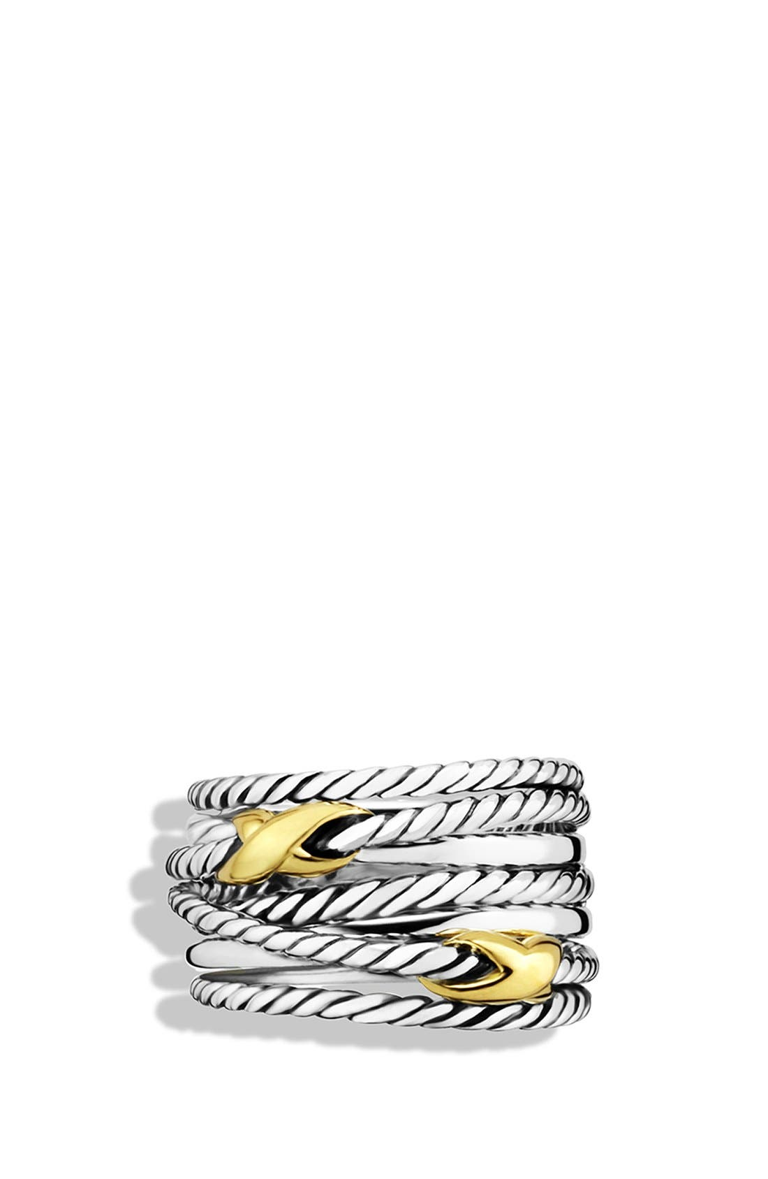 'Double X Crossover' Ring,                             Alternate thumbnail 3, color,                             Two Tone