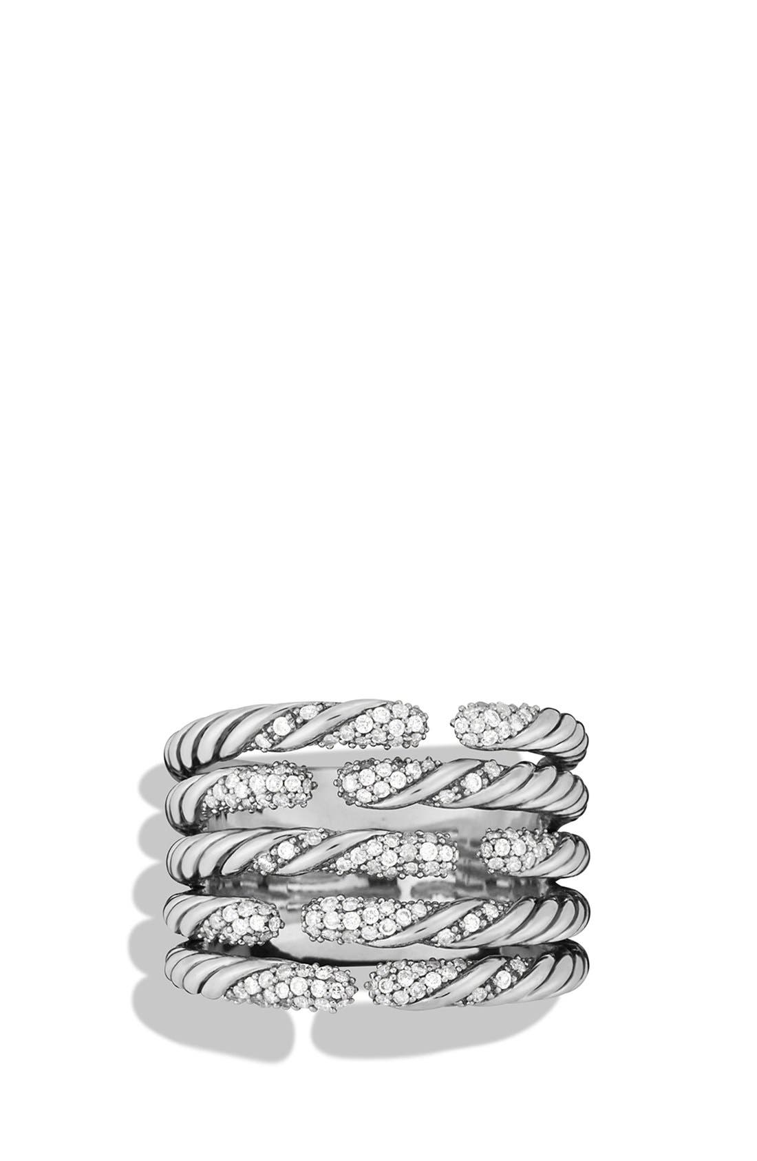 Alternate Image 3  - David Yurman 'Willow' Five-Row Ring with Diamonds
