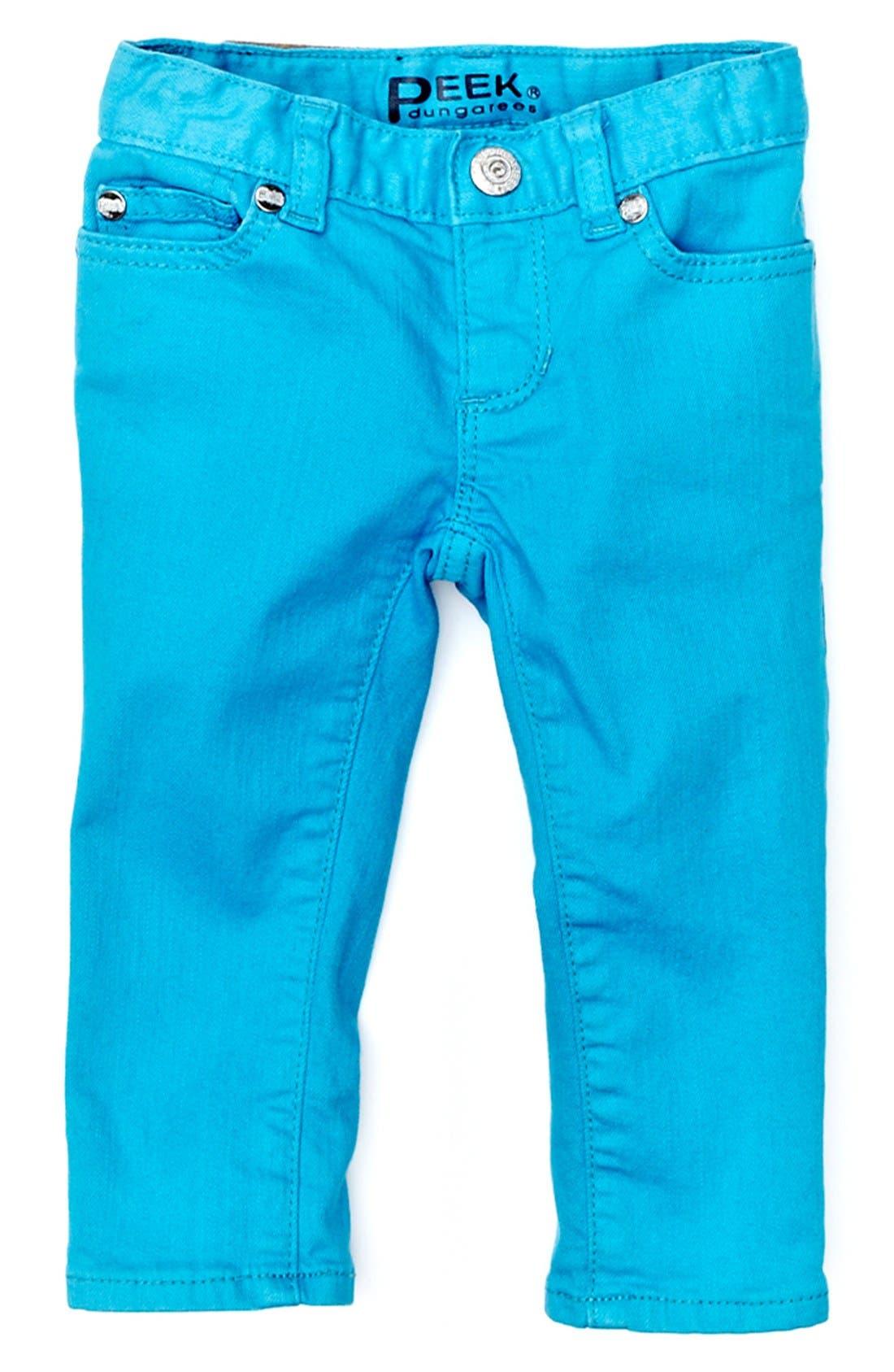 Alternate Image 2  - Peek 'Maya' Skinny Jeans (Baby Girls)