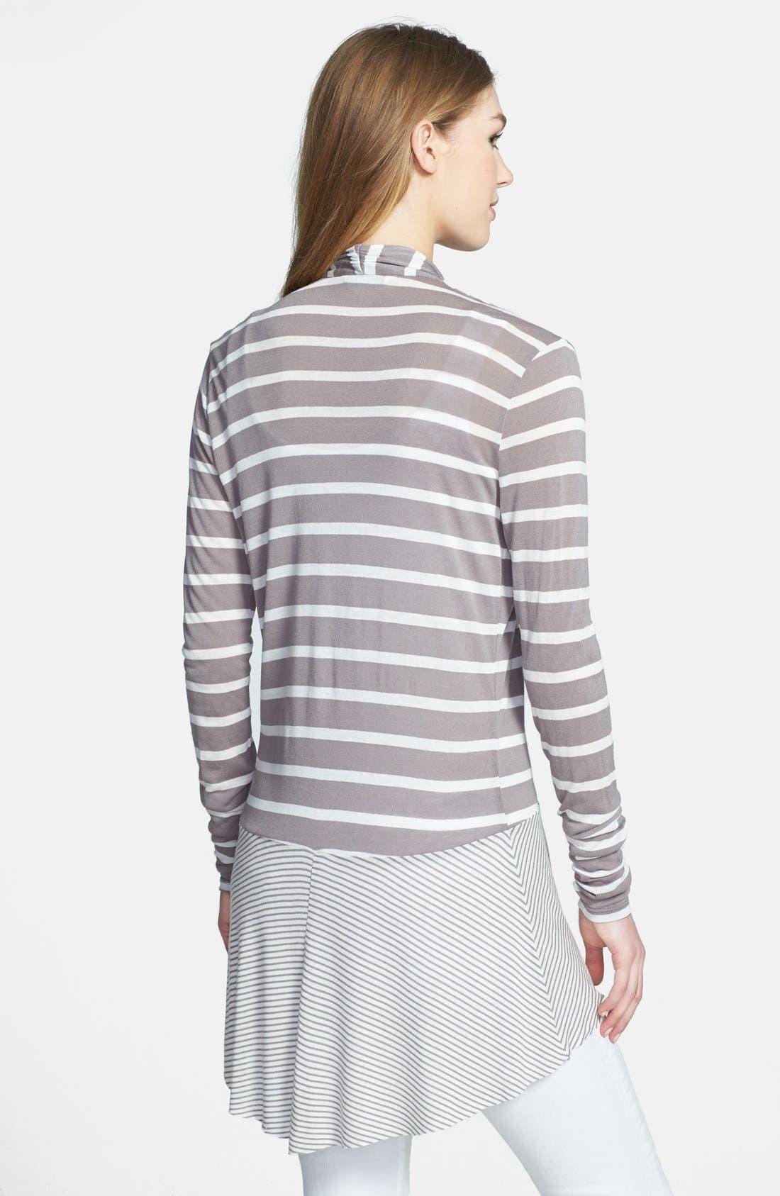 Alternate Image 2  - Three Dots Mixed Stripe Cardigan