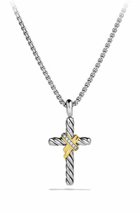 Womens diamond necklaces nordstrom david yurman x cross with diamonds and gold aloadofball Images