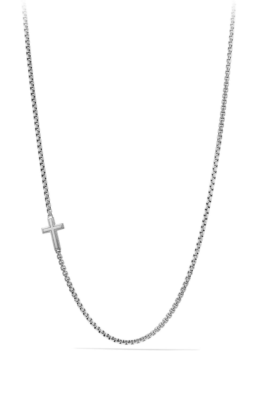 Alternate Image 2  - David Yurman Pavé Cross Necklace with Diamonds