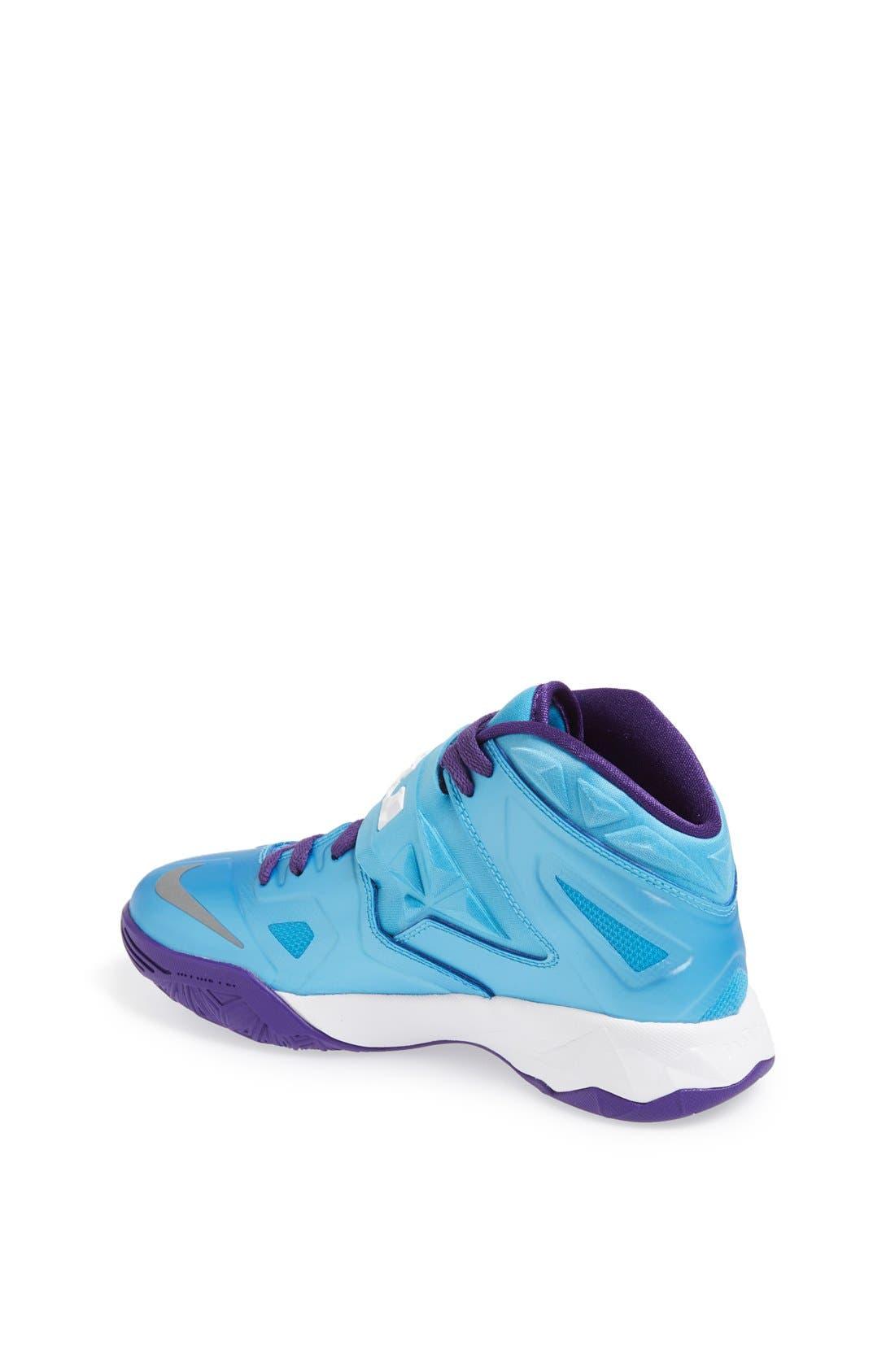 Alternate Image 2  - Nike 'LeBron Zoom Soldier VII' Basketball Shoe (Big Kid)