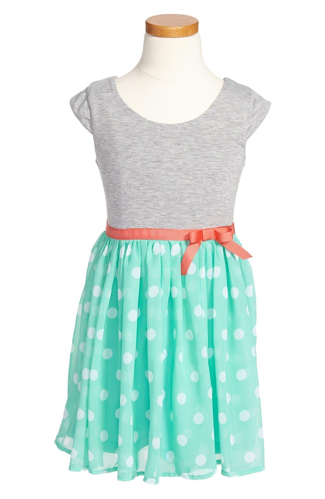Alternate Image 1 Selected - Zunie Print Skater Dress (Little Girls & Big Girls)
