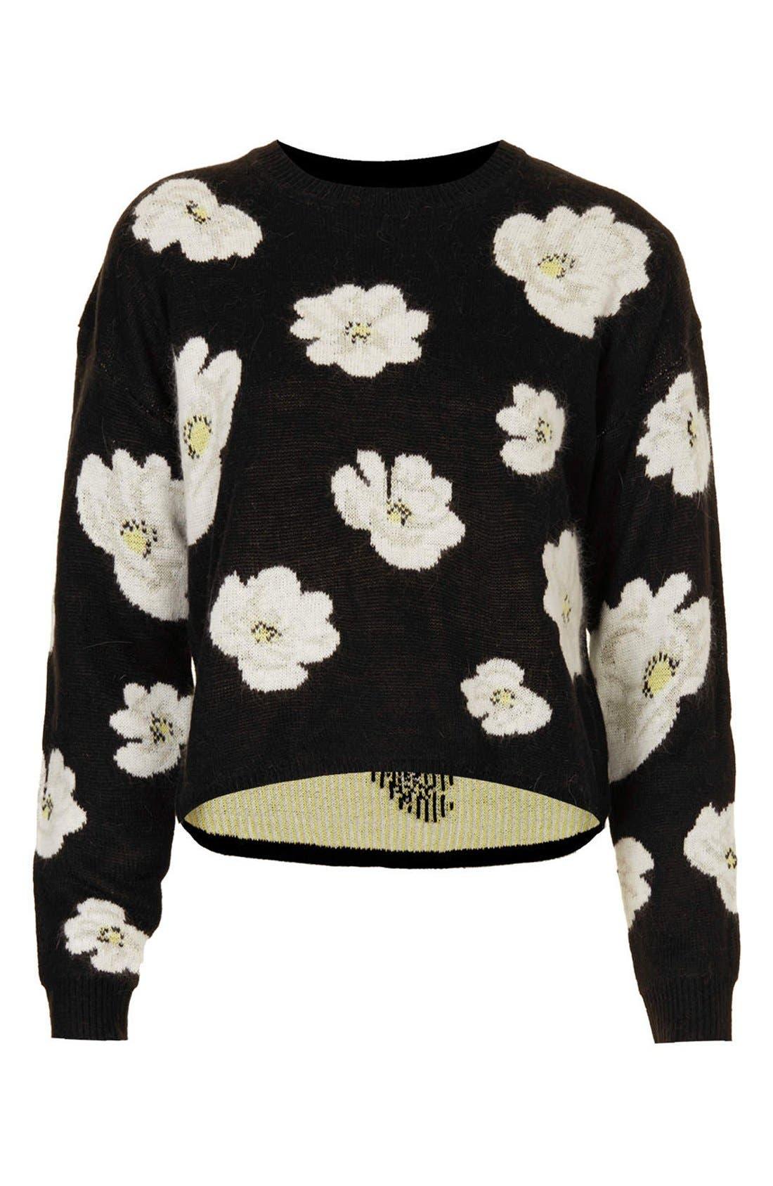 Alternate Image 3  - Topshop Daisy Jacquard Sweater