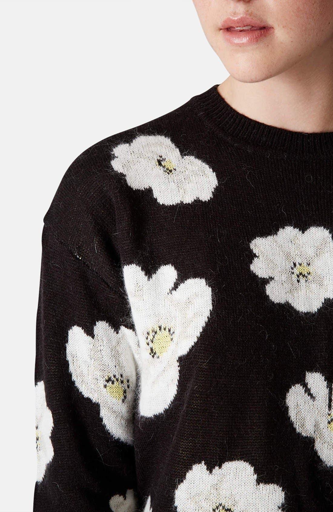 Alternate Image 4  - Topshop Daisy Jacquard Sweater