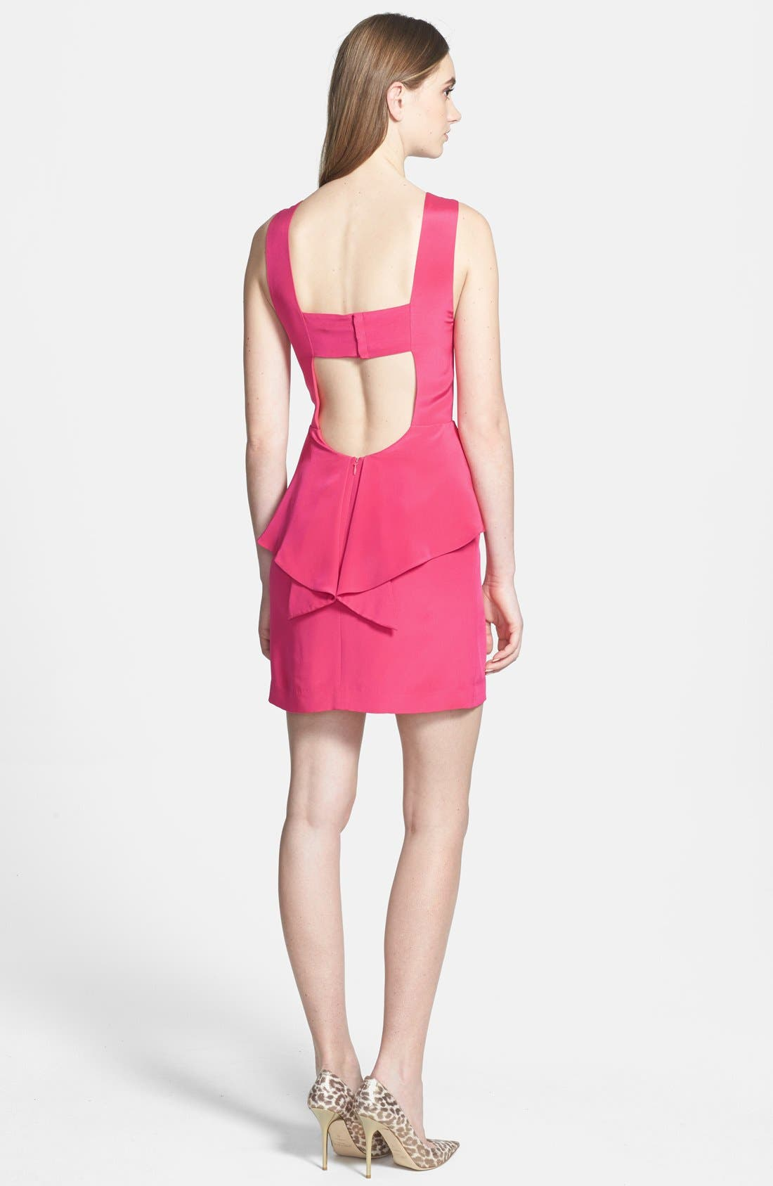Alternate Image 2  - Rebecca Minkoff 'Stam' Peplum Silk Sheath Dress