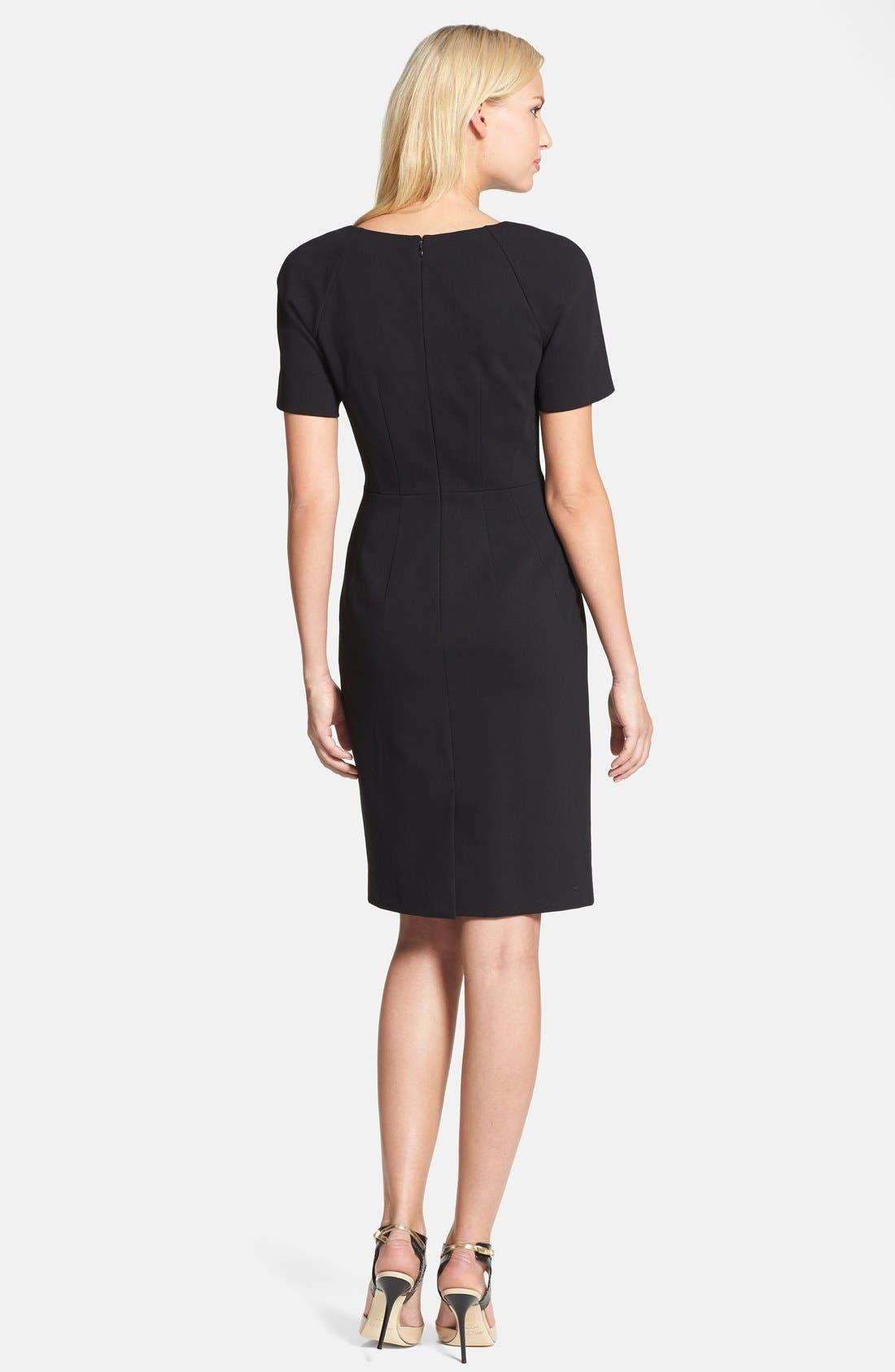 Alternate Image 2  - Classiques Entier® Shaped Shoulder Ponte Dress