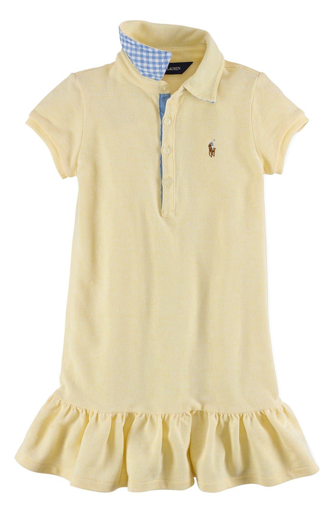Alternate Image 1 Selected - Ralph Lauren Polo Dress (Toddler Girls)