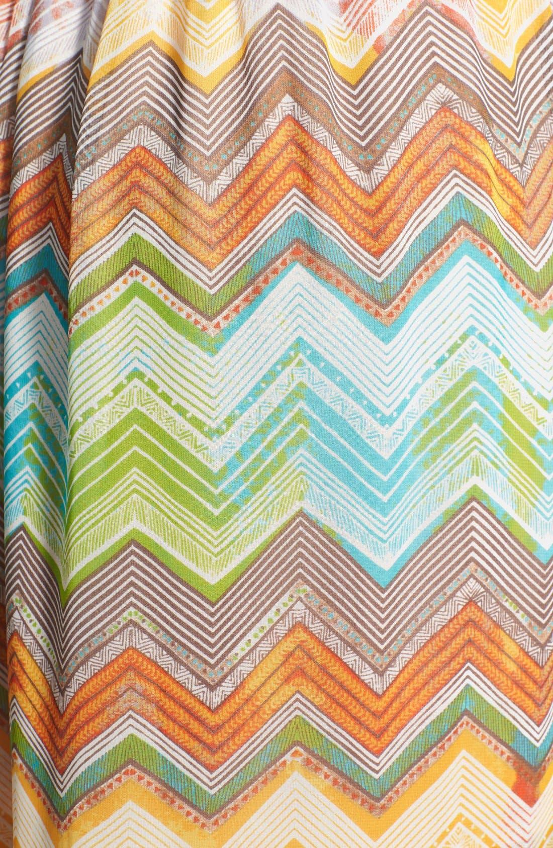 Alternate Image 3  - KUT from the Kloth 'Jackie' Zigzag Stripe Sleeveless Maxi Dress