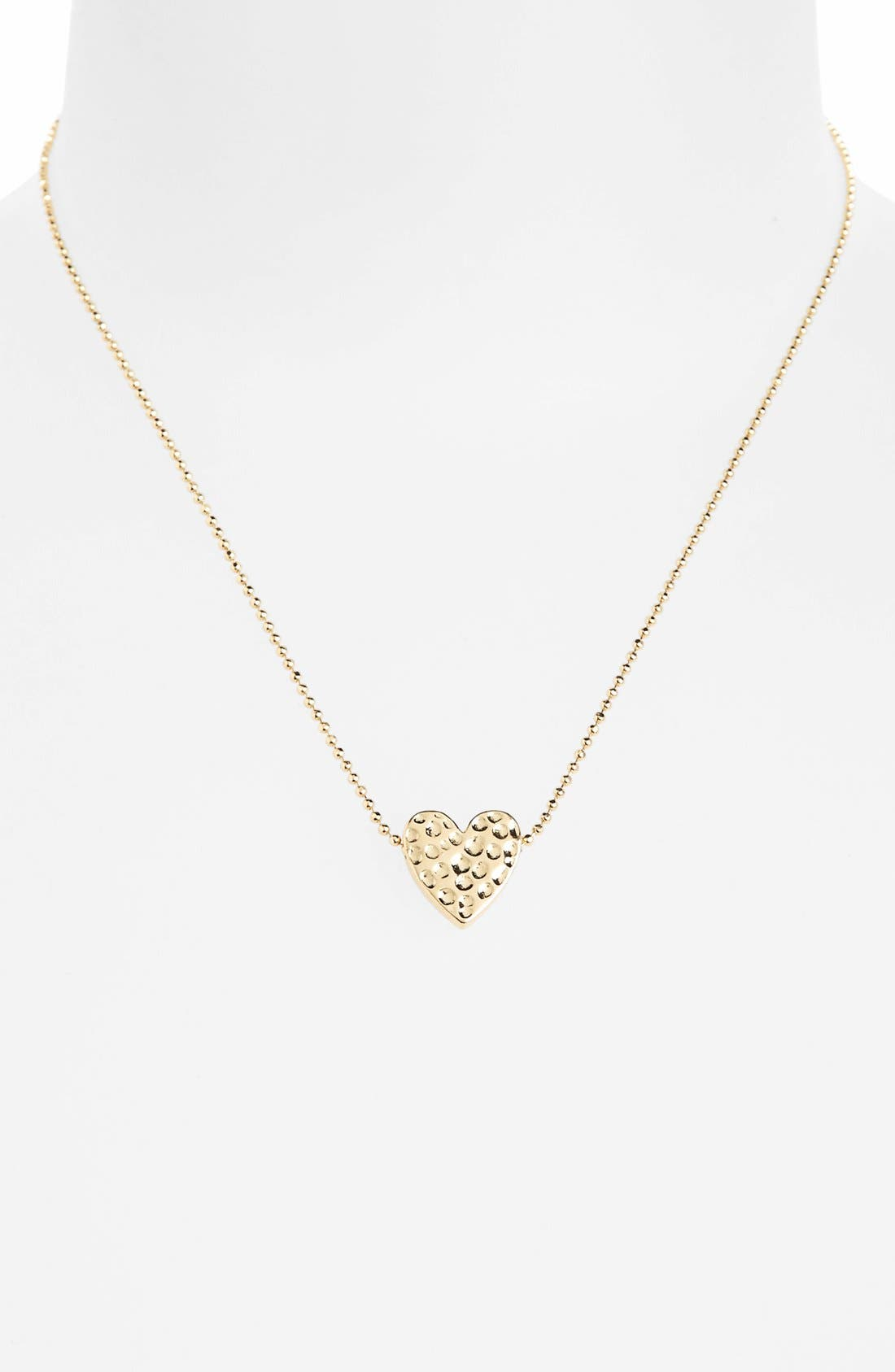 Alternate Image 1 Selected - Topshop 'Beaten Heart' Necklace