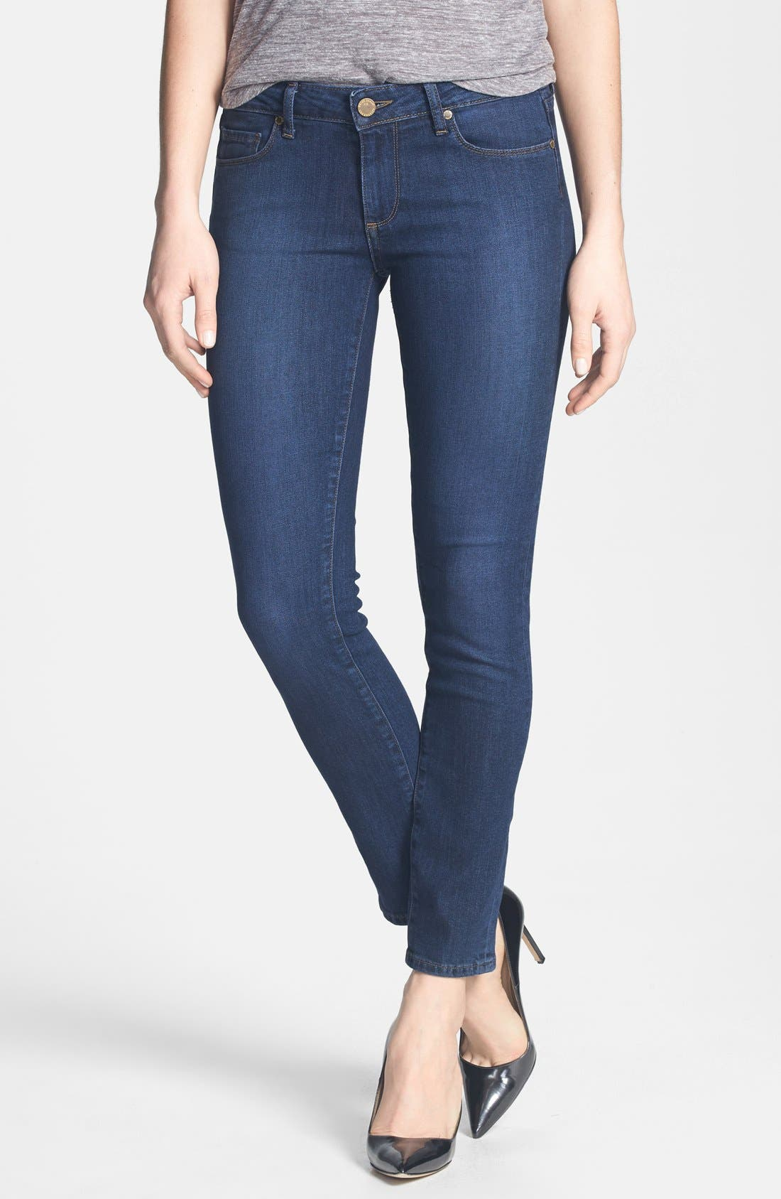 Main Image - Paige Denim 'Skyline' Skinny Ankle Jeans (Claire)