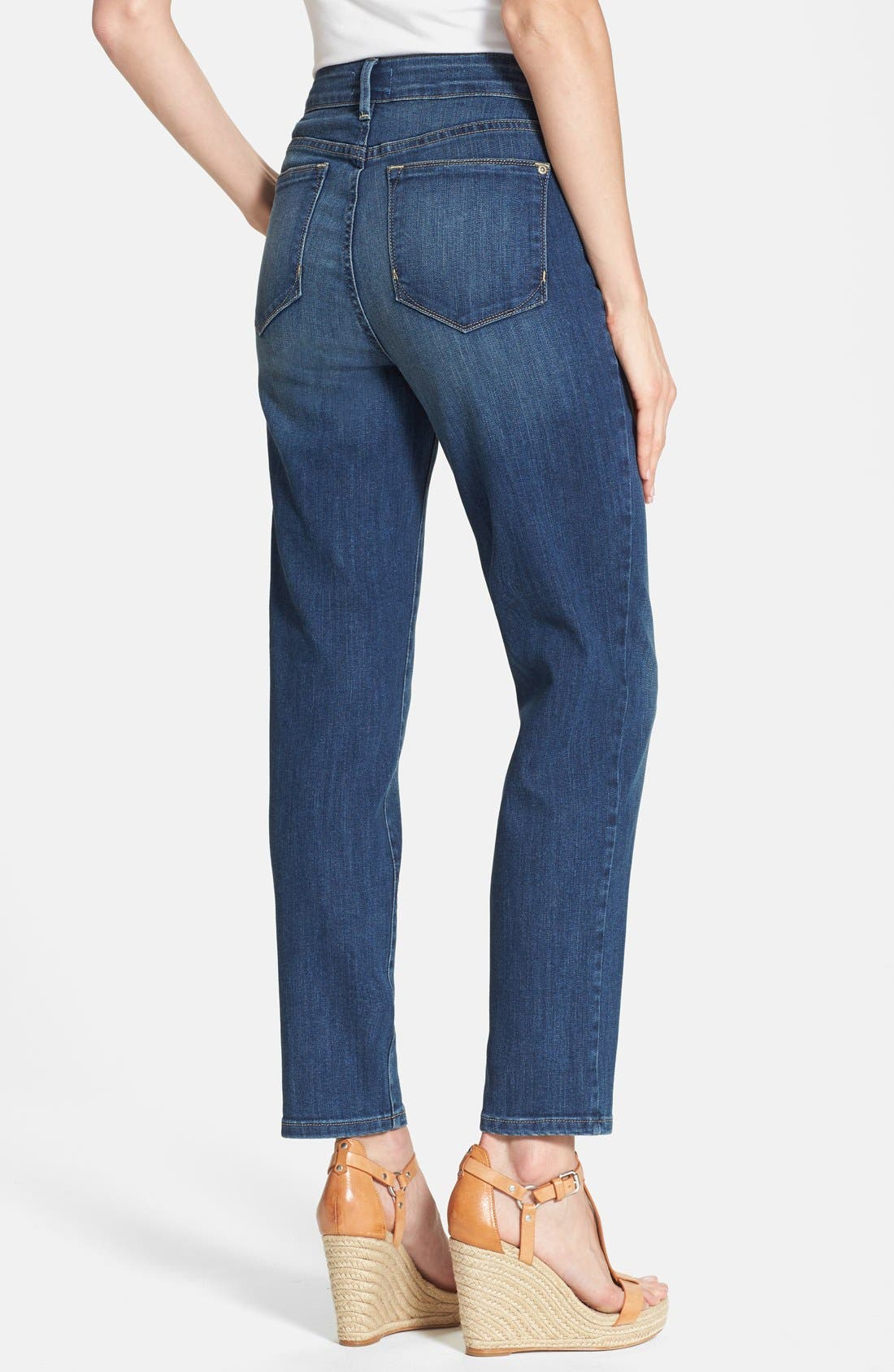Alternate Image 2  - NYDJ 'Clarissa' Stretch Ankle Skinny Jeans (Pittsburgh) (Petite)