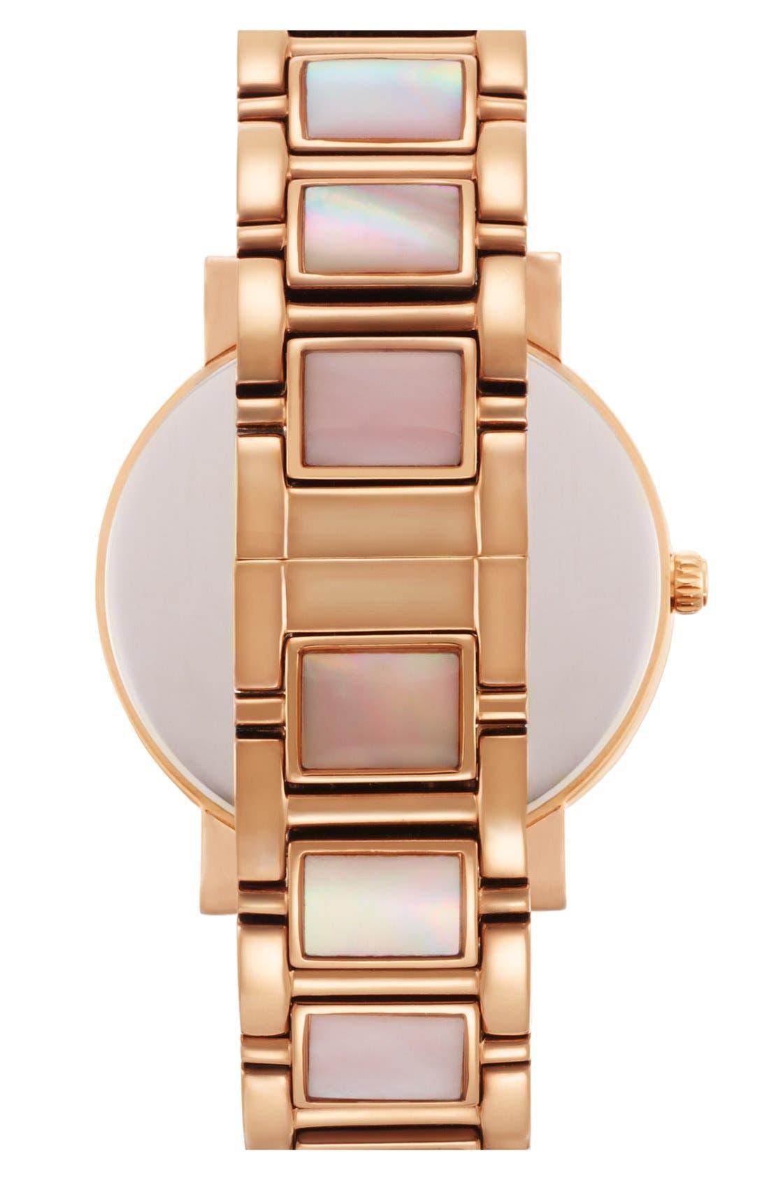 Alternate Image 2  - kate spade new york 'gramercy grand' mother-of-pearl bracelet watch, 38mm