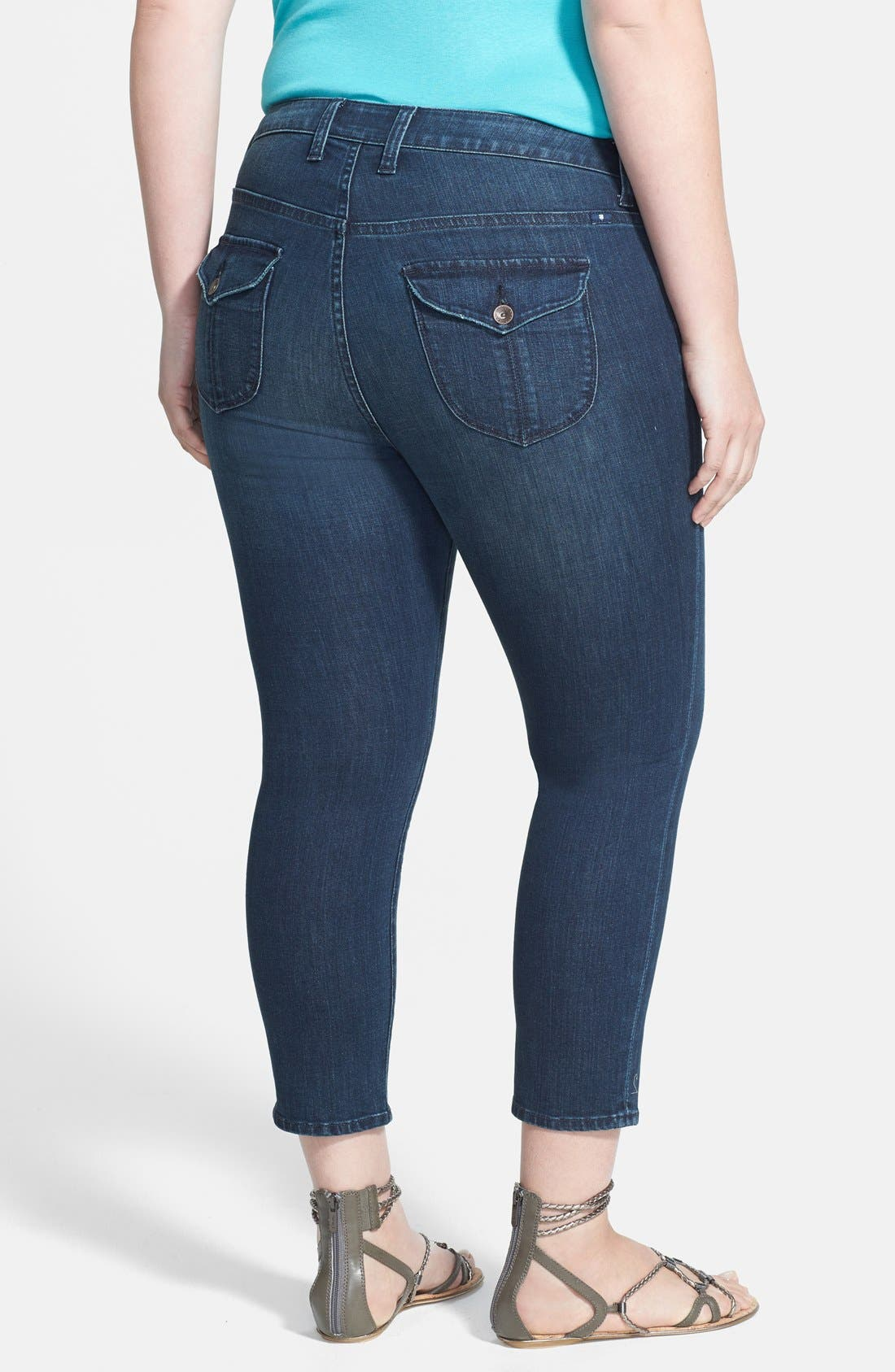 Alternate Image 2  - Lucky Brand 'New Ginger' Capris (Plus Size)
