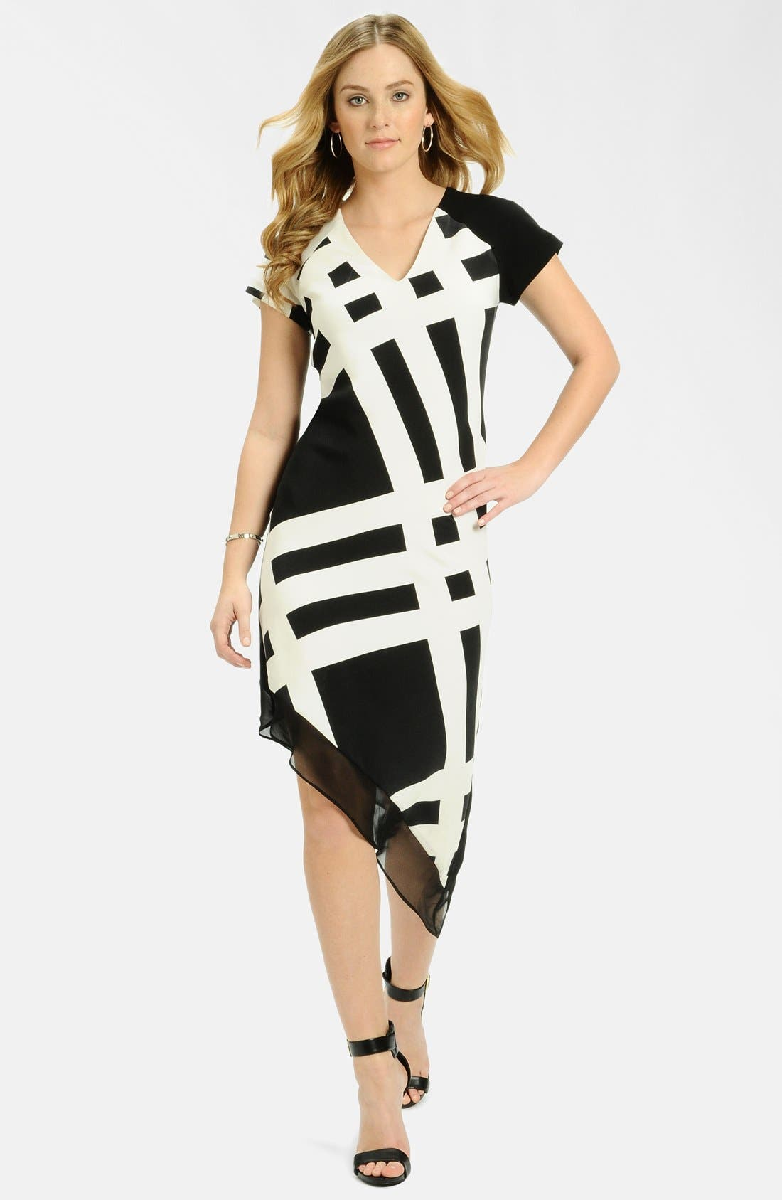 Main Image - LABEL by five twelve Print Asymmetrical Hem Dress