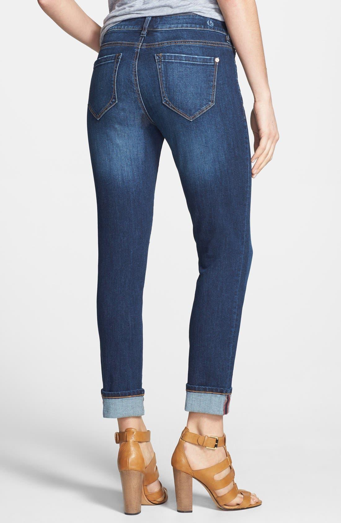 Alternate Image 2  - kensie Classic Capri Jeans (Eternal Highway)