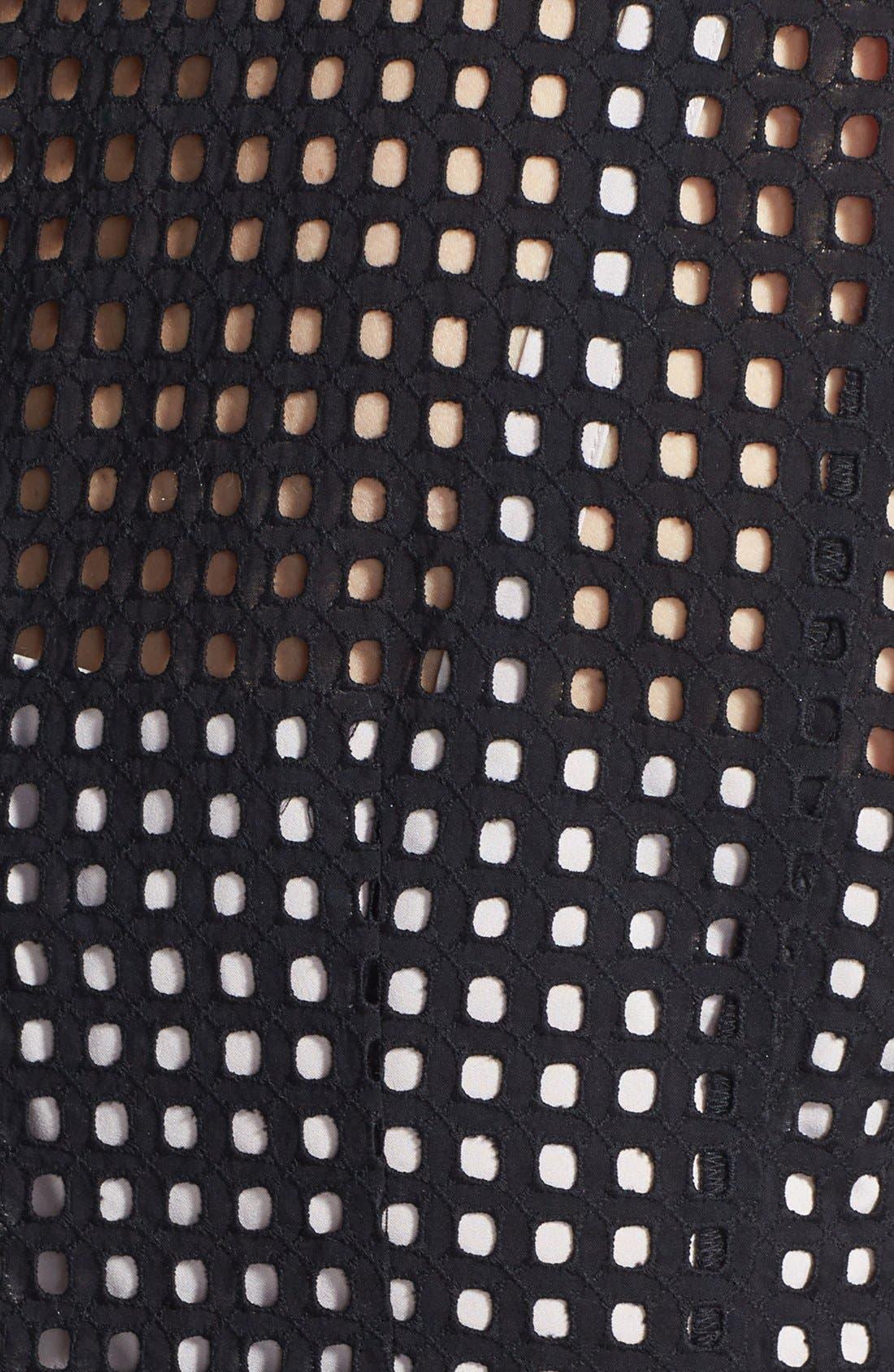 Alternate Image 3  - Halogen® 'Prism' Eyelet Cotton Fit & Flare Dress (Plus Size)