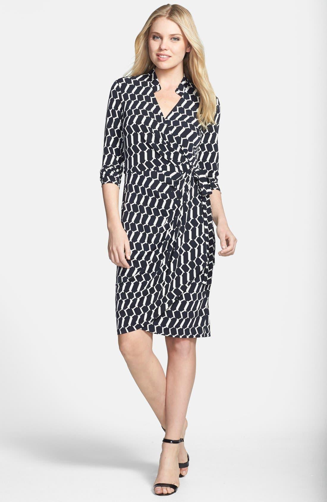 Alternate Image 2  - Maggy London Print Matte Jersey Wrap Dress