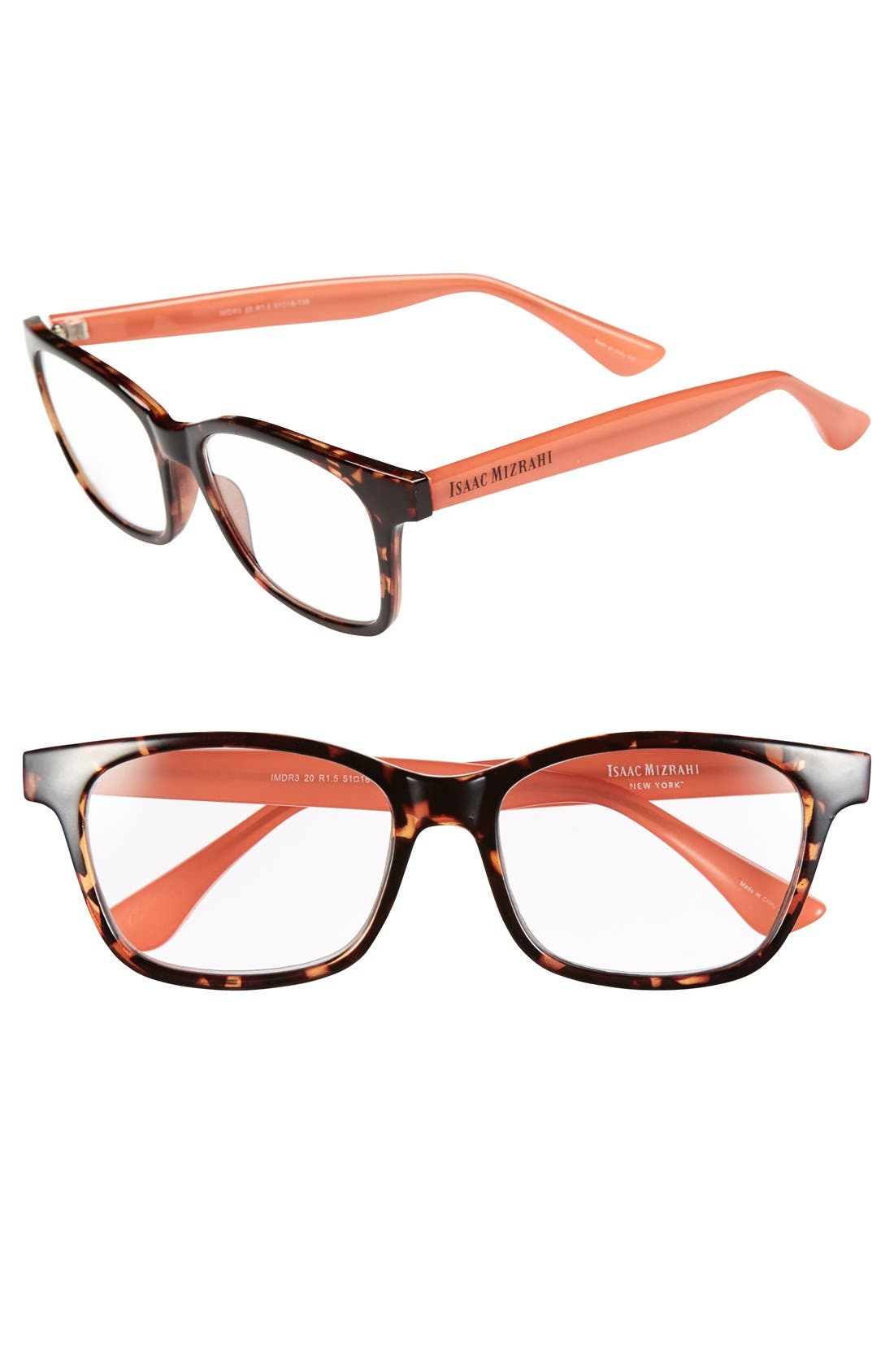 Alternate Image 1 Selected - Isaac Mizrahi New York 51mm Square Reading Glasses
