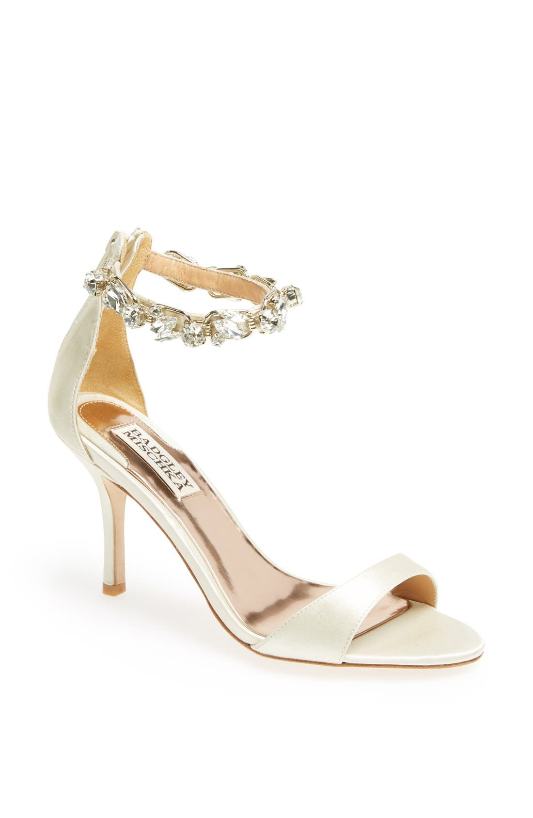 Alternate Image 1 Selected - Badgley Mischka 'Klark' Satin Sandal