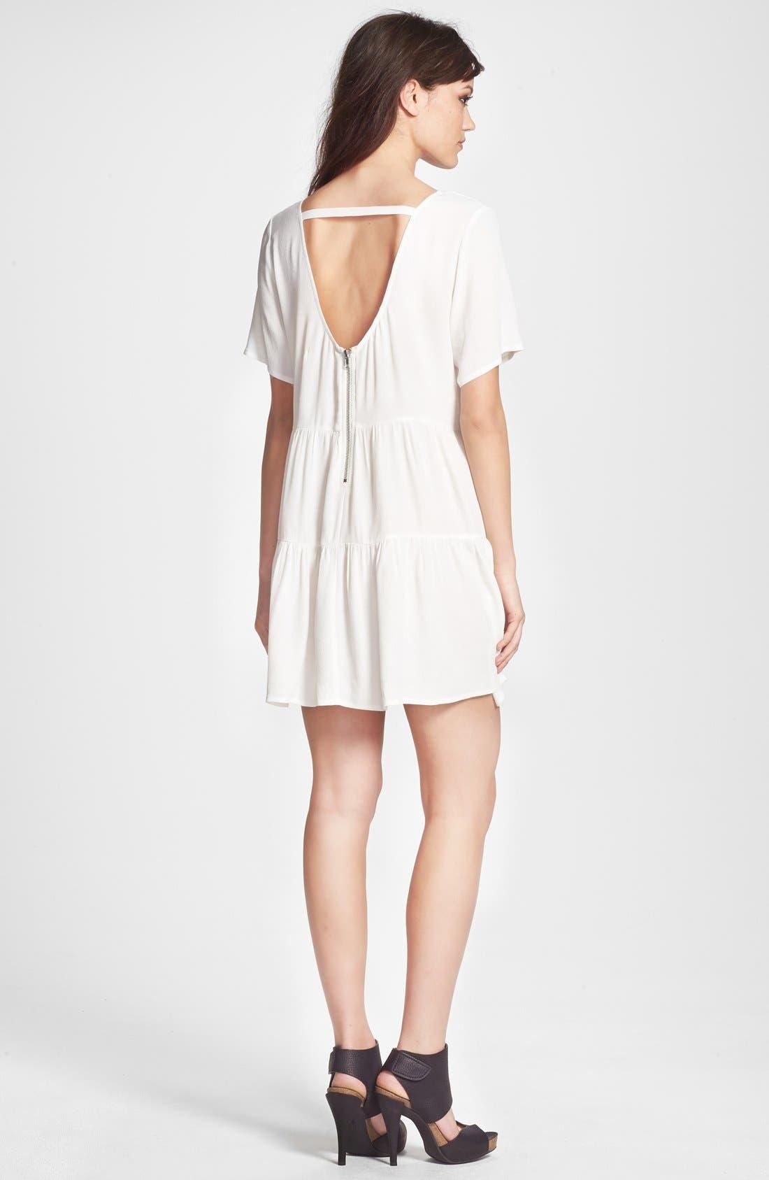 Alternate Image 2  - Glamorous Tiered Crepe Shift Dress