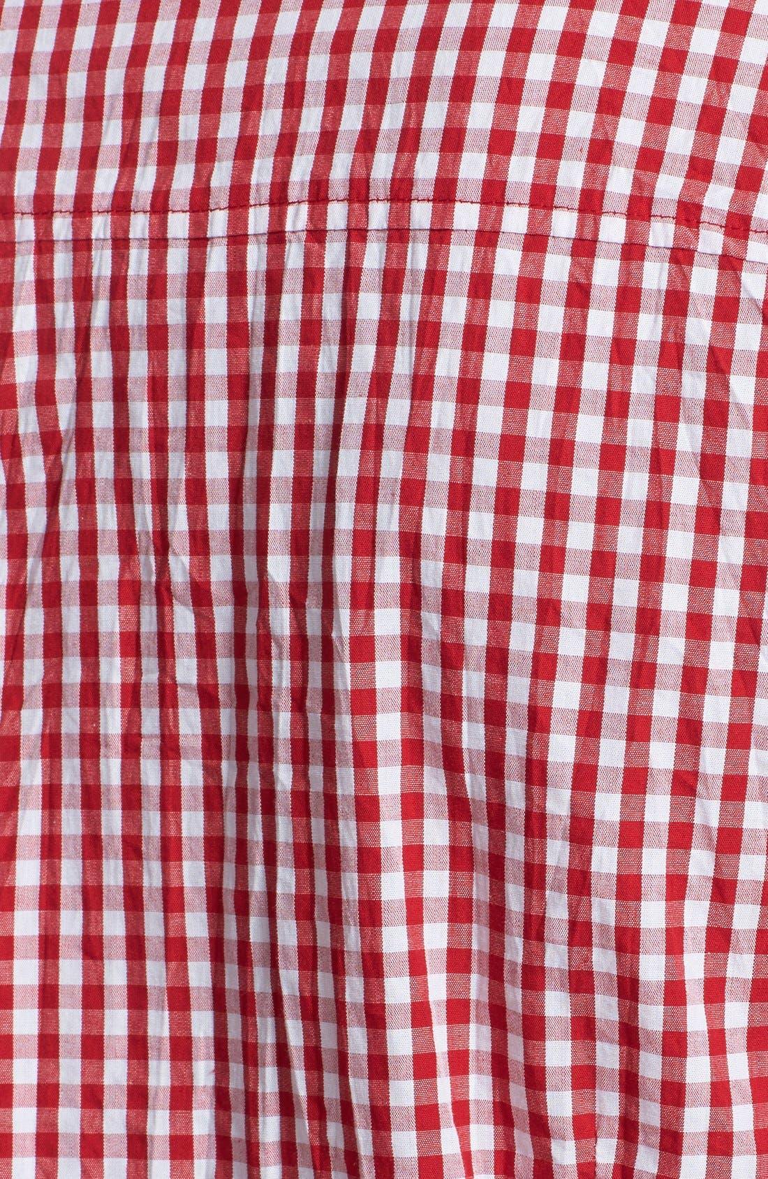 Gingham Shirt,                             Alternate thumbnail 3, color,                             Cherry/ Navy Gingham