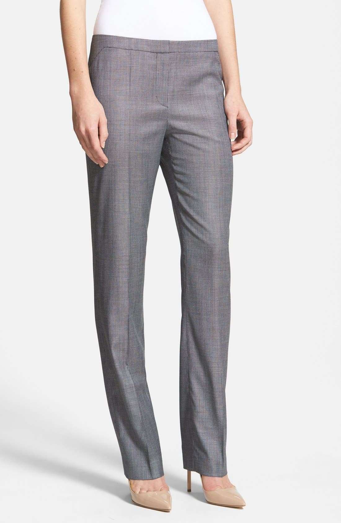 Main Image - BOSS 'Tenina' Stretch Wool Trousers