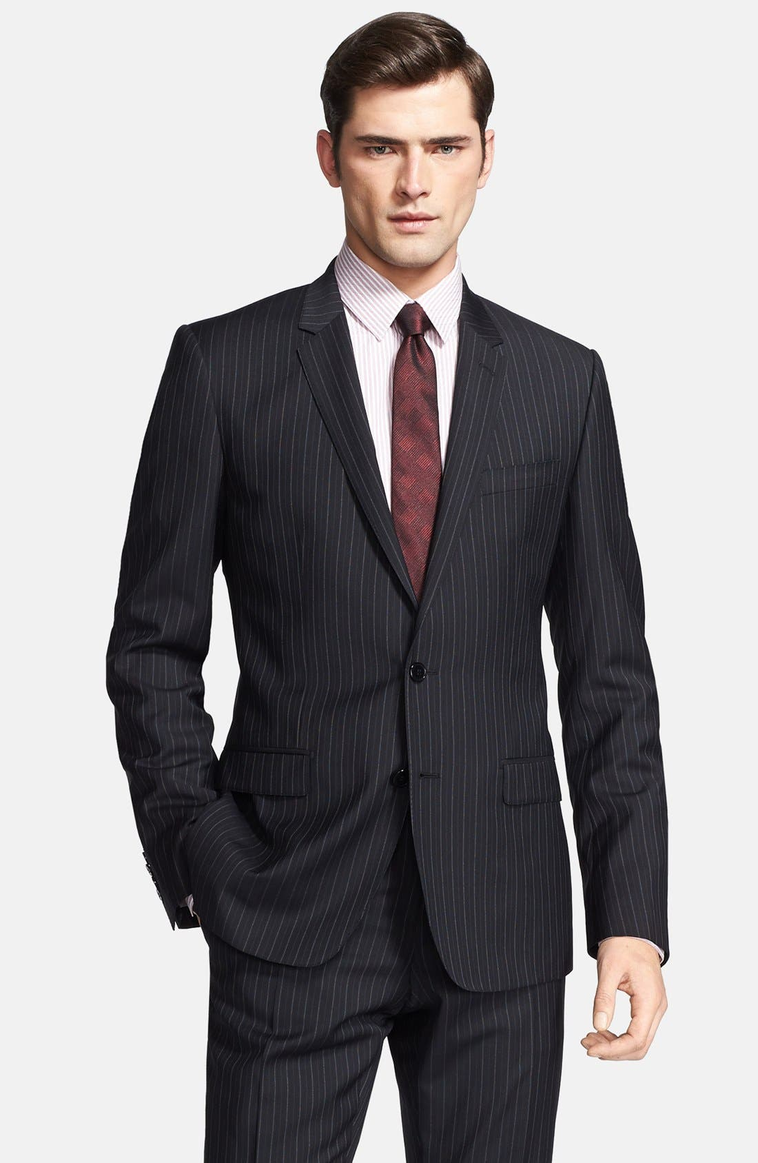 Alternate Image 3  - Dolce&Gabbana 'Martini' Black Stripe Wool Suit