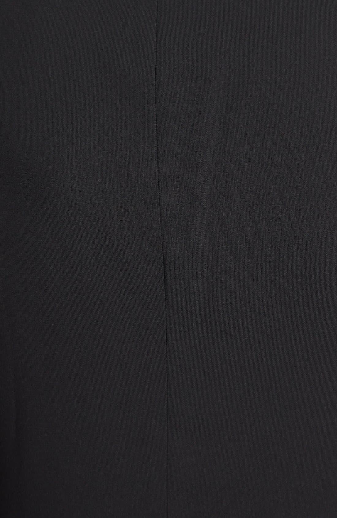 Sheer Sleeve Blazer,                             Alternate thumbnail 3, color,                             Black