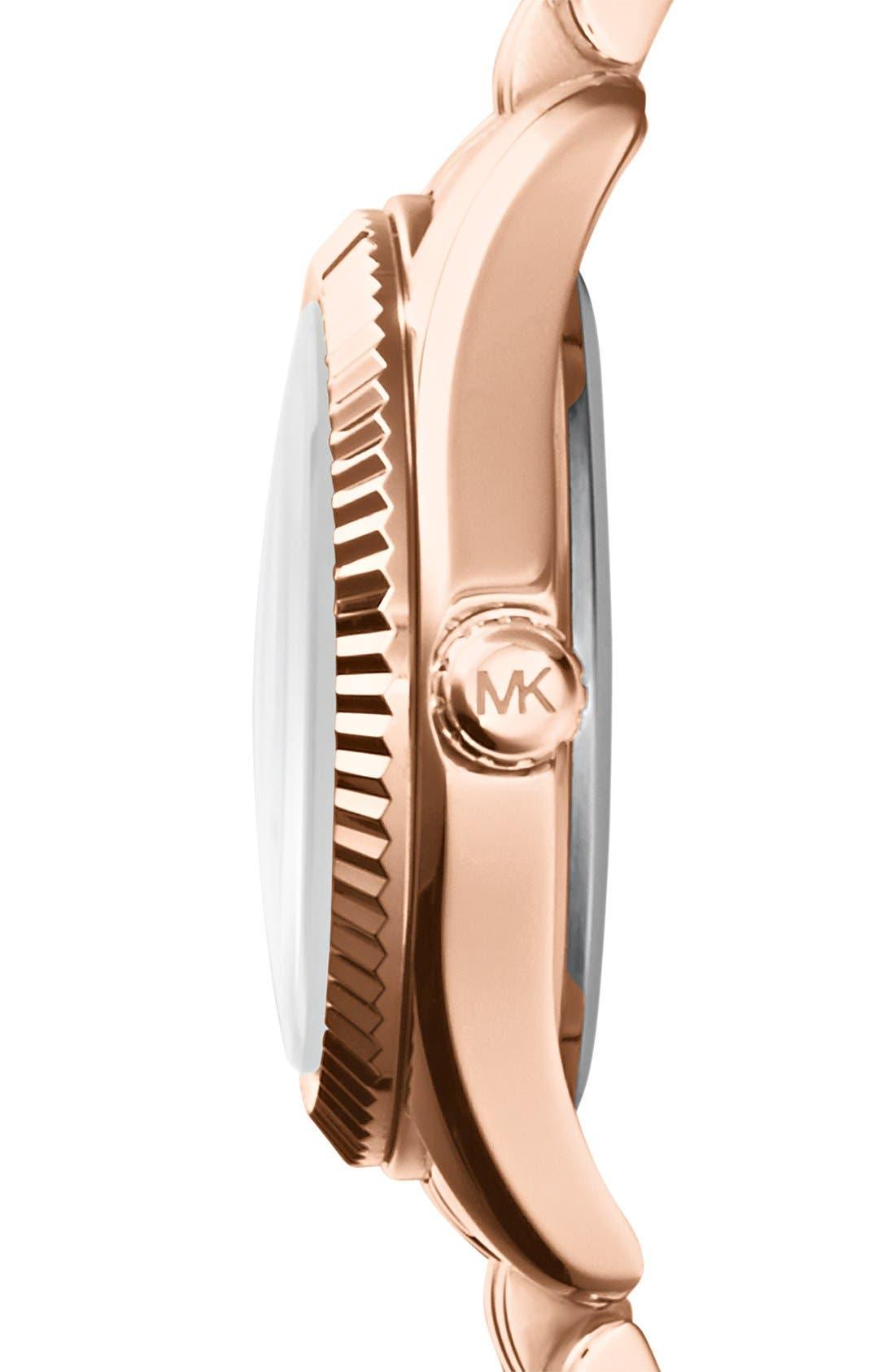 Alternate Image 3  - Michael Kors 'Petite Lexington' Bracelet Watch, 26mm