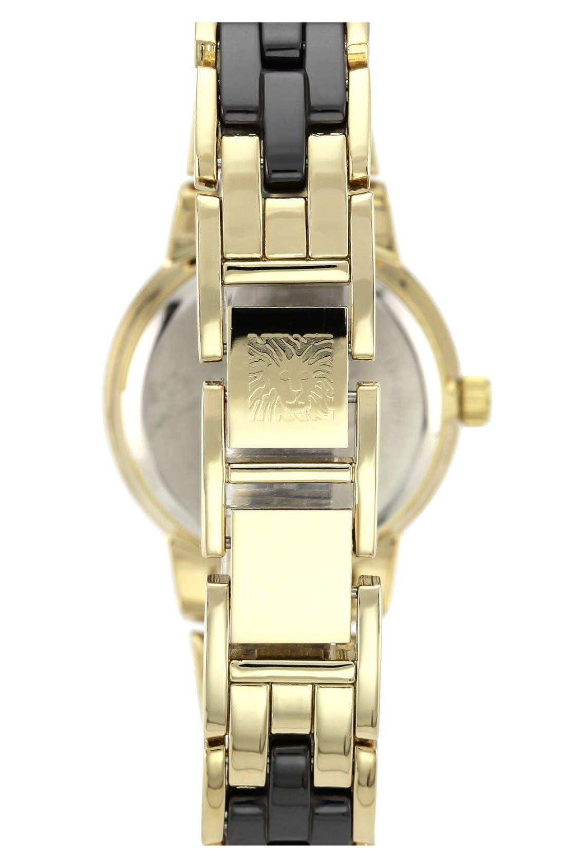 Alternate Image 2  - Anne Klein Diamond Marker Ceramic Bracelet Watch, 30mm