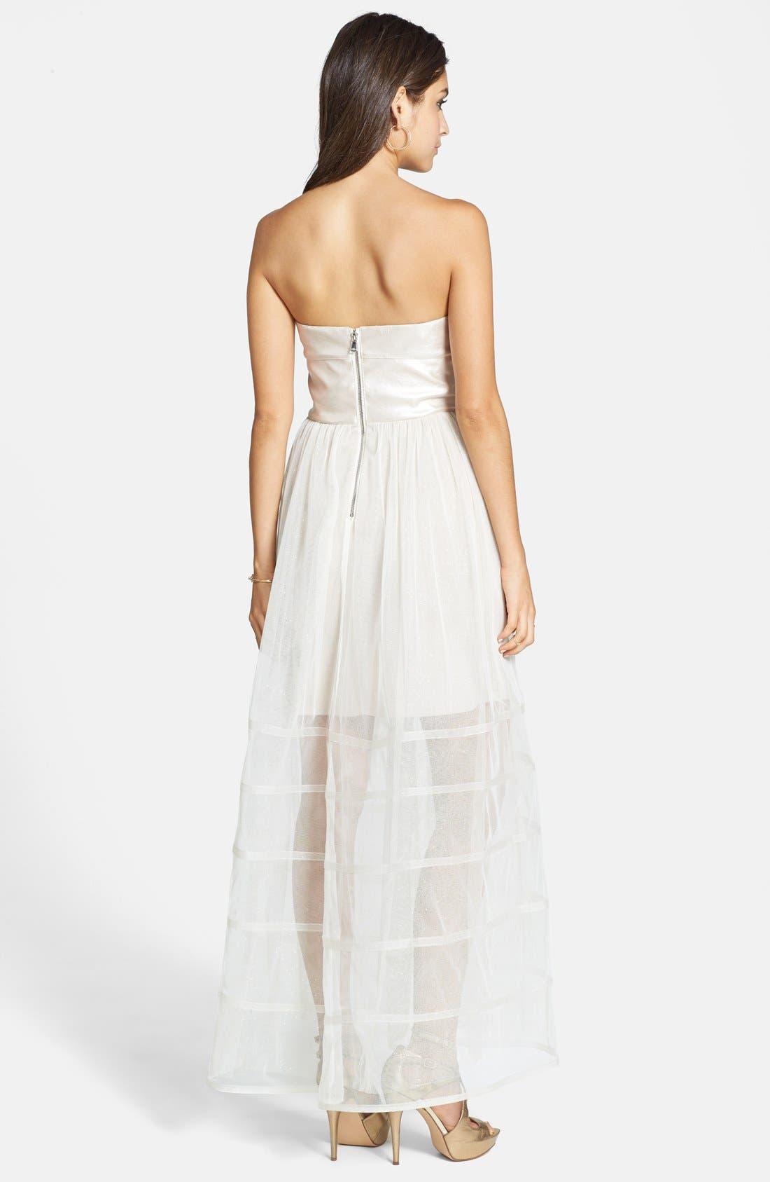 Alternate Image 2  - Betsey Johnson Dot Print Lace Fit & Flare Dress