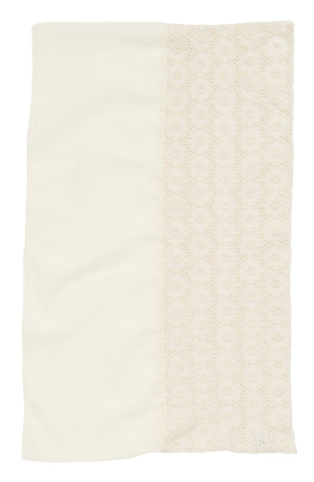Alternate Image 2  - BP. Crochet Panel Infinity Scarf (Juniors)