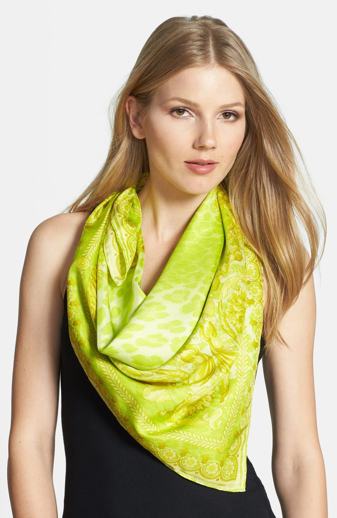 Alternate Image 1 Selected - Versace Silk Foulard Scarf