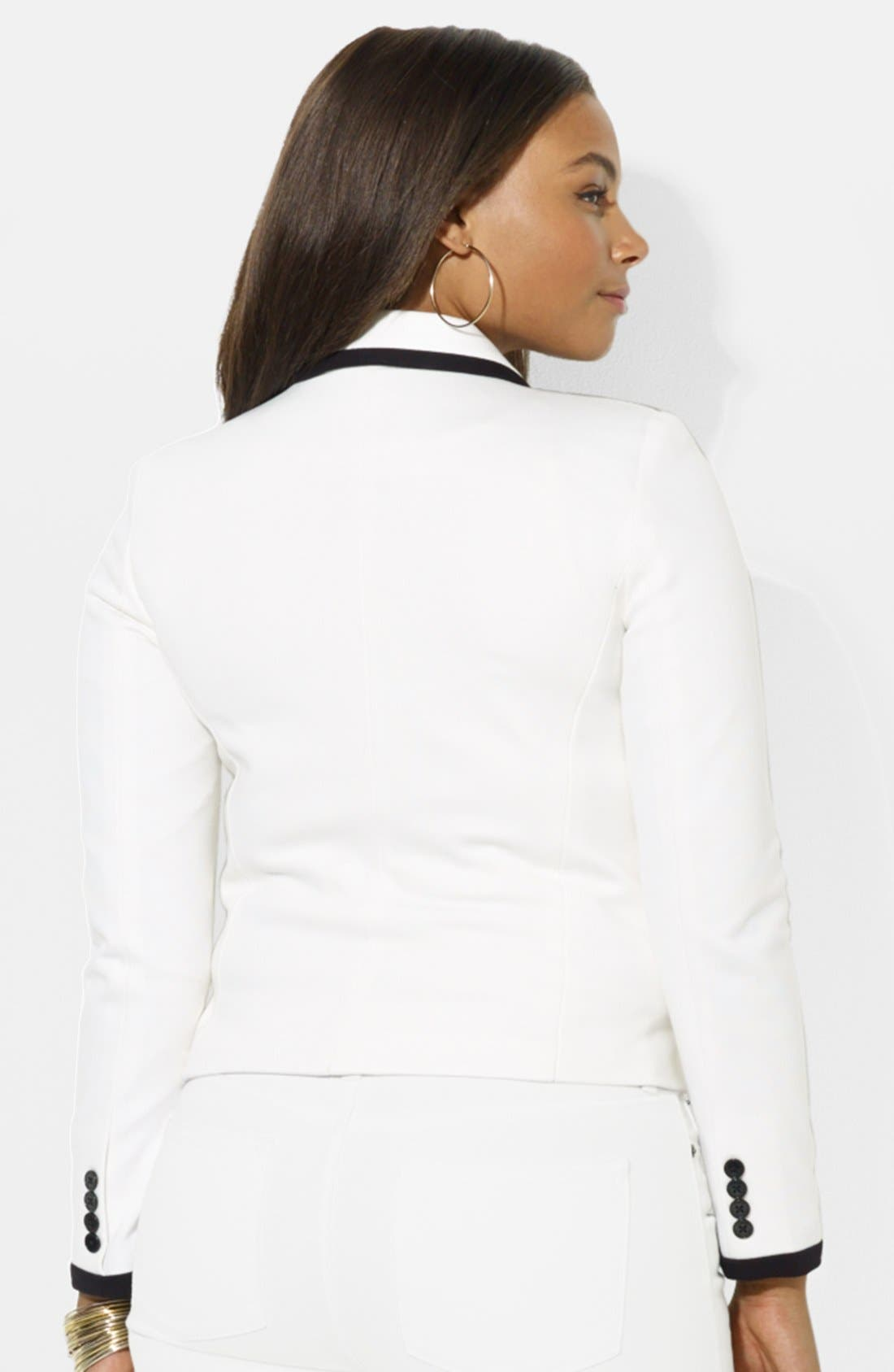 Alternate Image 2  - Lauren Ralph Lauren Button Front Jacket (Plus Size)