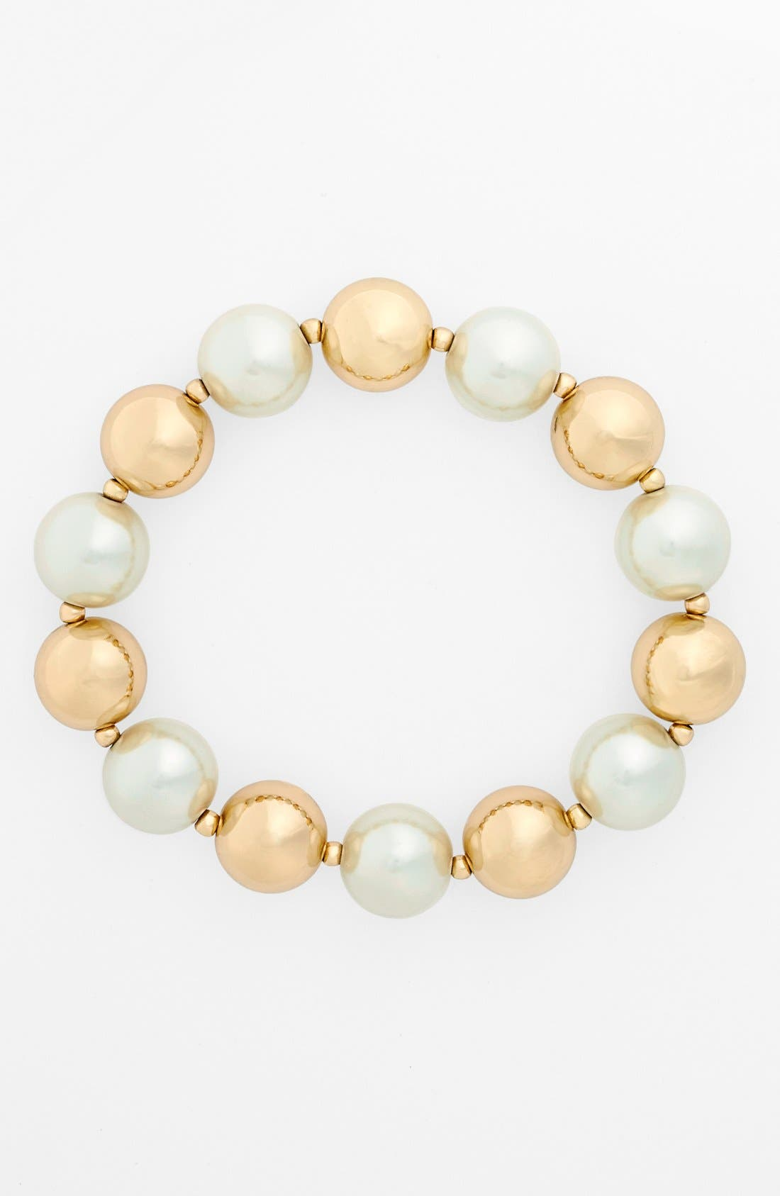 Alternate Image 1 Selected - Anne Klein Beaded Stretch Bracelet