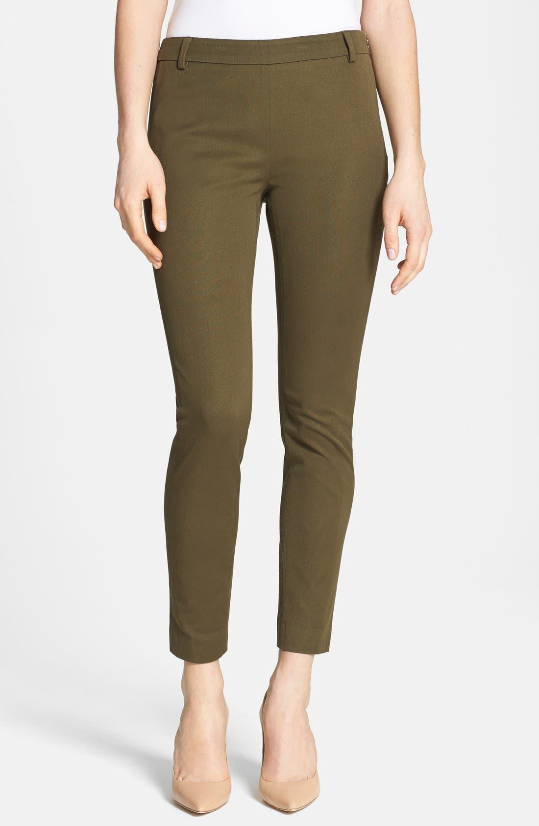 Alternate Image 1 Selected - Halogen® Slim Fit Stretch Cotton Pants (Regular & Petite)