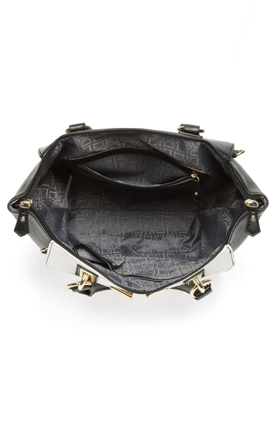 Alternate Image 3  - Danielle Nicole 'Alexa' Perforated Faux Leather Satchel