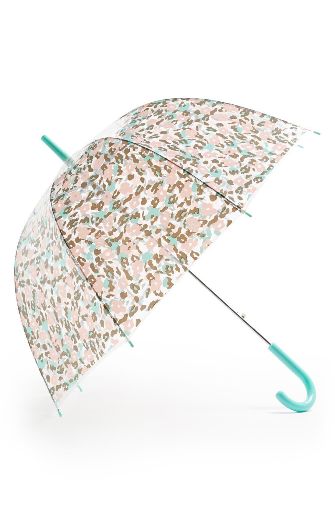 Alternate Image 1 Selected - Tri-Coastal Design Leopard Print Umbrella (Juniors)