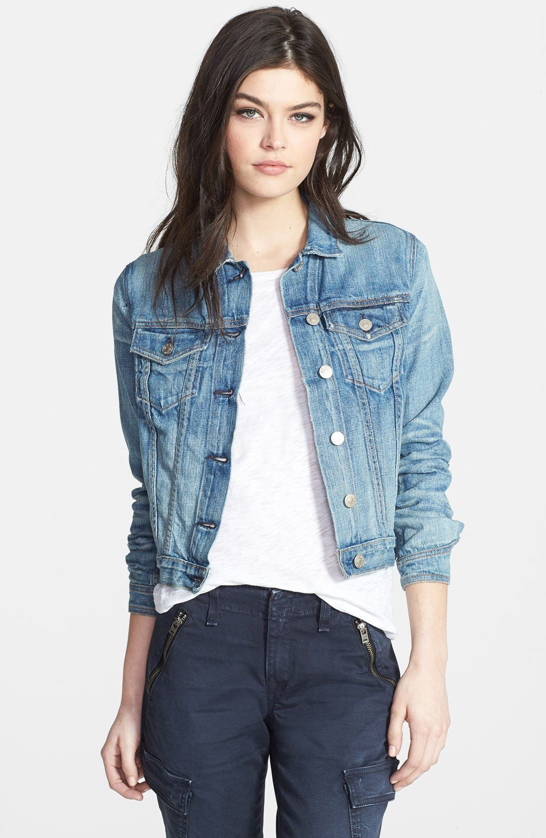 Alternate Image 1 Selected - rag & bone/JEAN Crop Denim Jacket