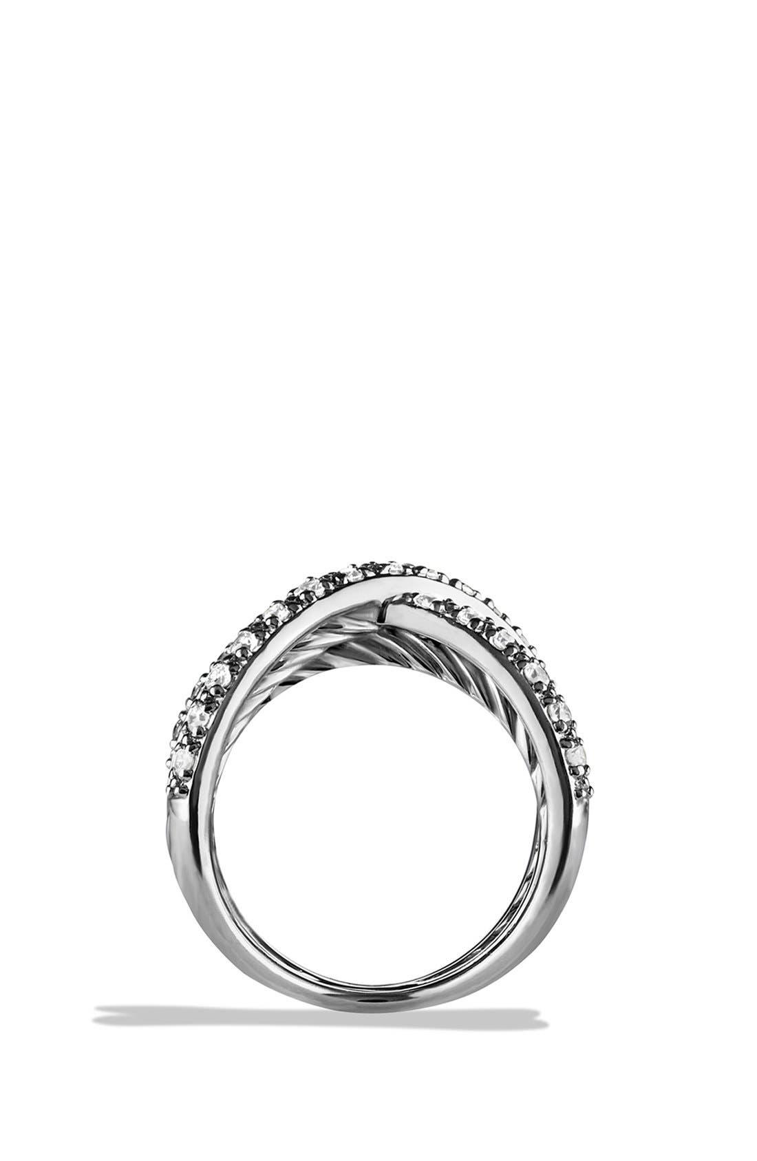 Alternate Image 2  - David Yurman 'Crossover' Pavé Diamond Ring
