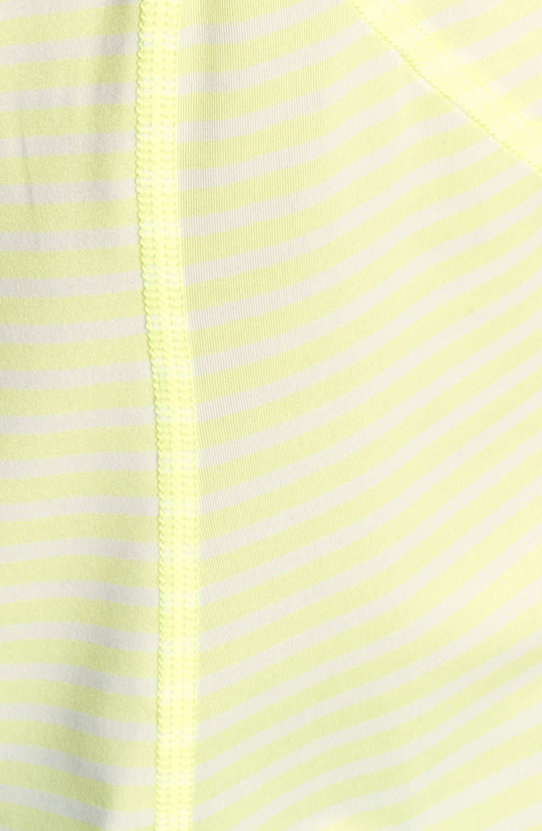 'Run' Stripe Half Zip Pullover,                             Alternate thumbnail 3, color,                             Lime Zest