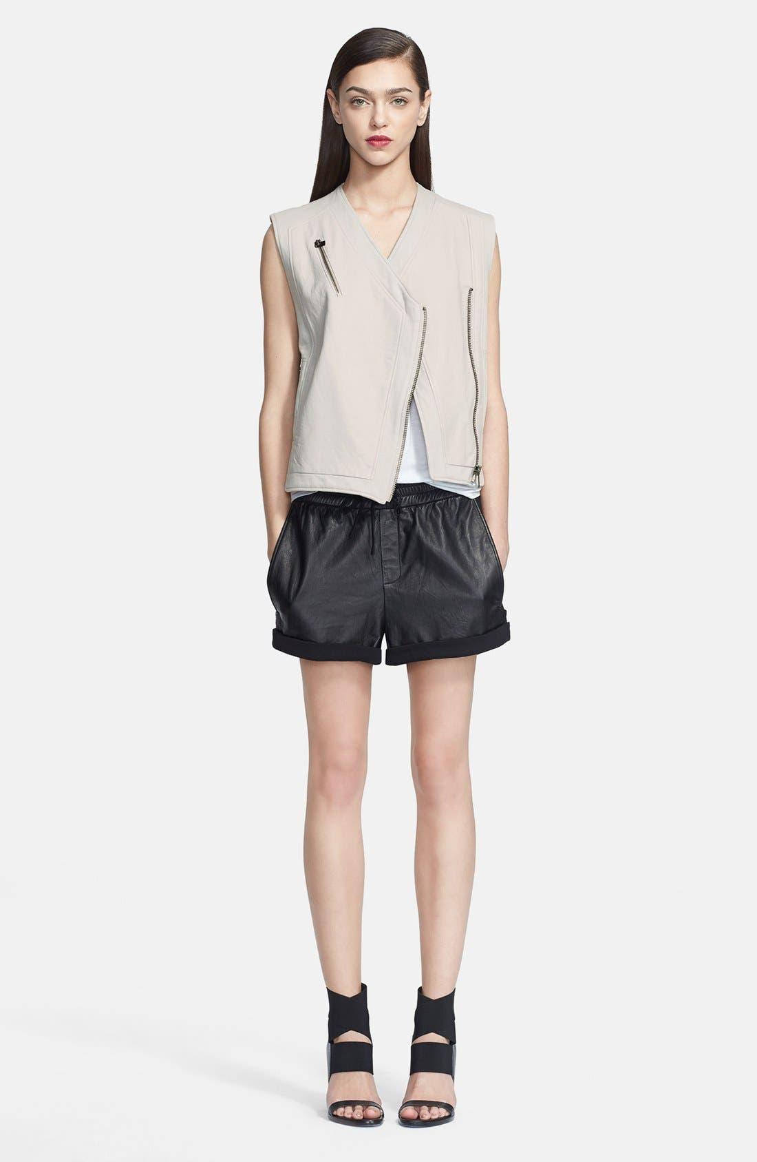 Alternate Image 1 Selected - Helmut Lang Leather Vest & Shorts