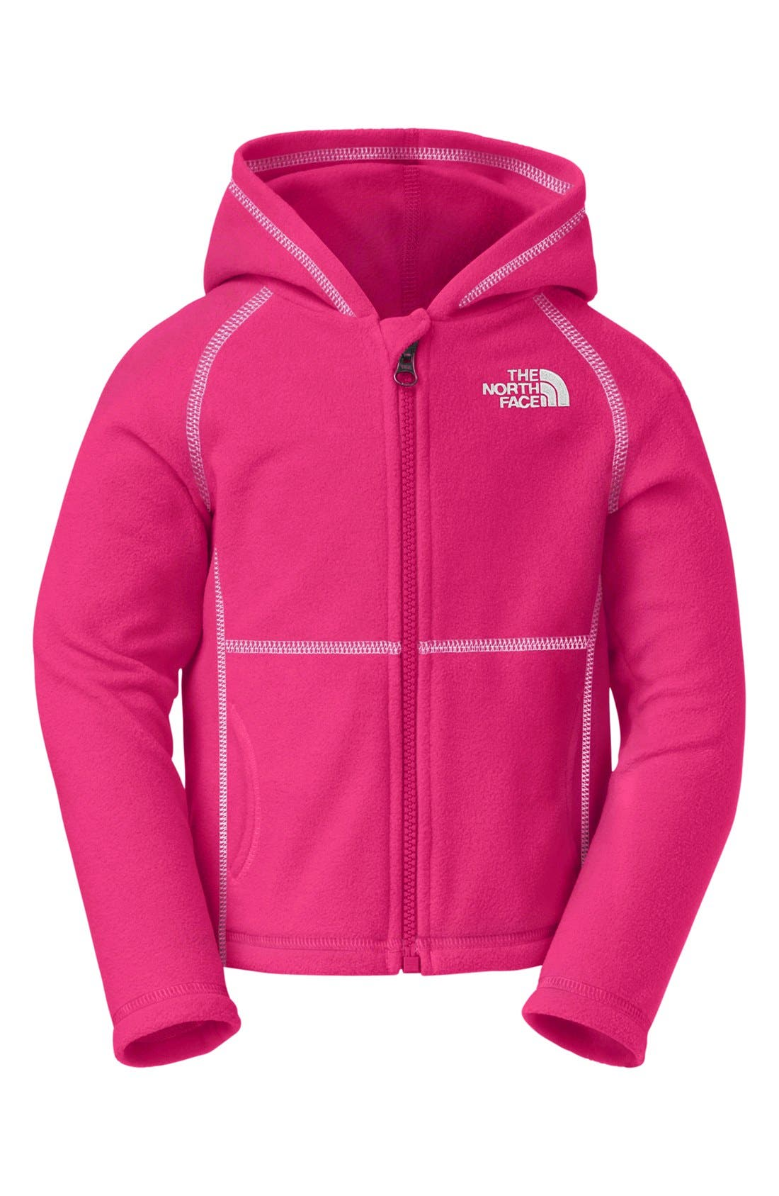 Alternate Image 1 Selected - The North Face 'Glacier' Full Zip Hoodie (Toddler Girls)