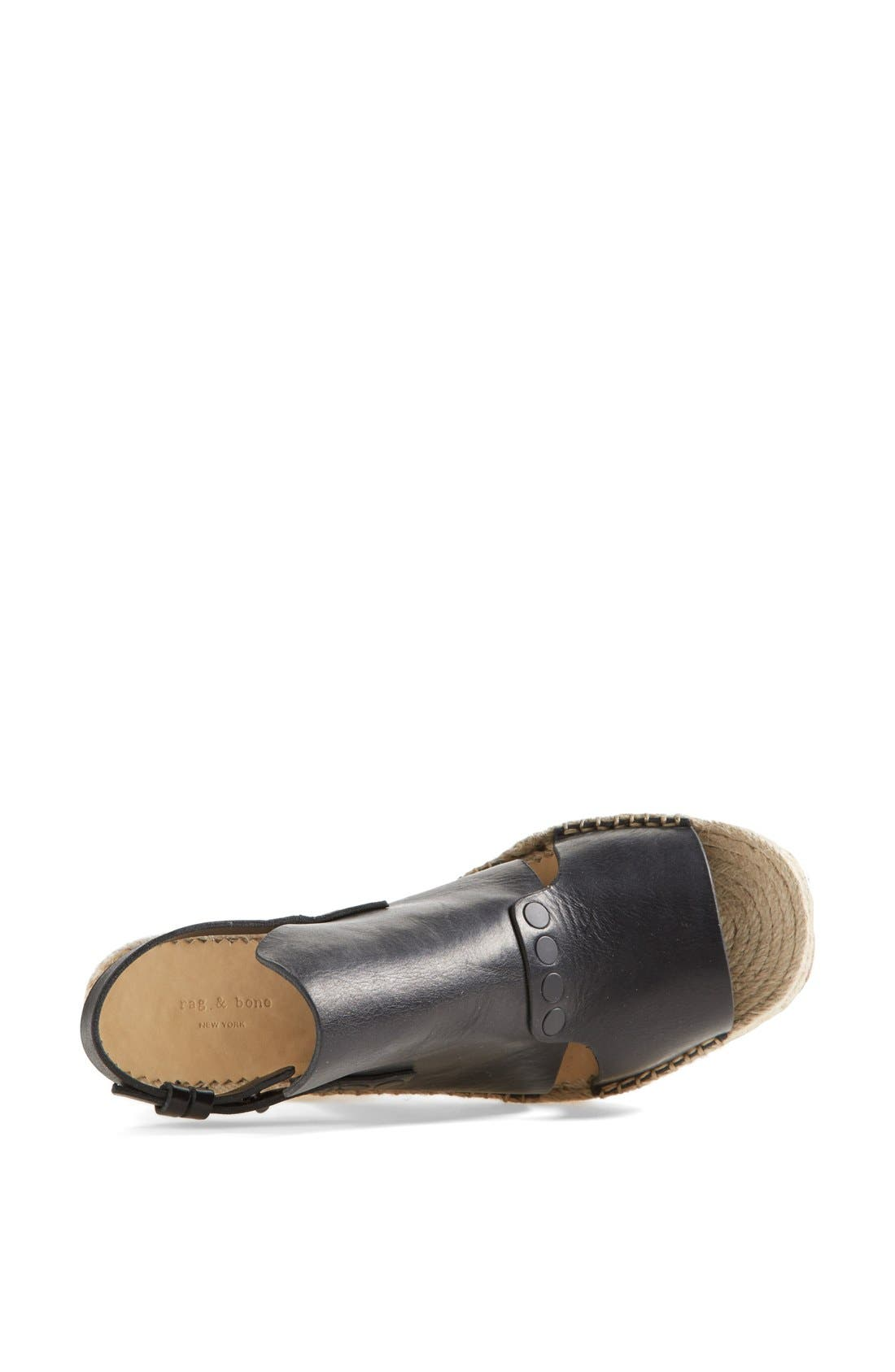 Alternate Image 3  - rag & bone 'Sayre II' Espadrille Wedge Sandal