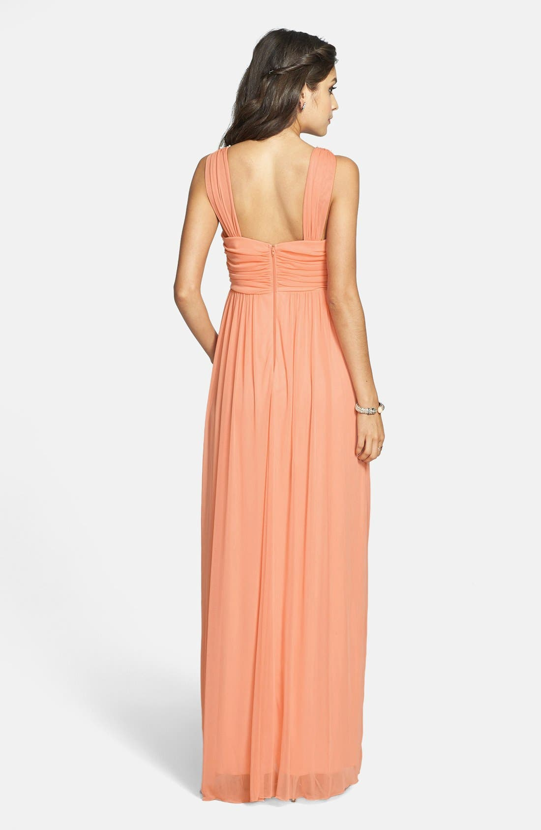Alternate Image 2  - Way-In Embellished V-Neck Gown (Juniors) (Online Only)