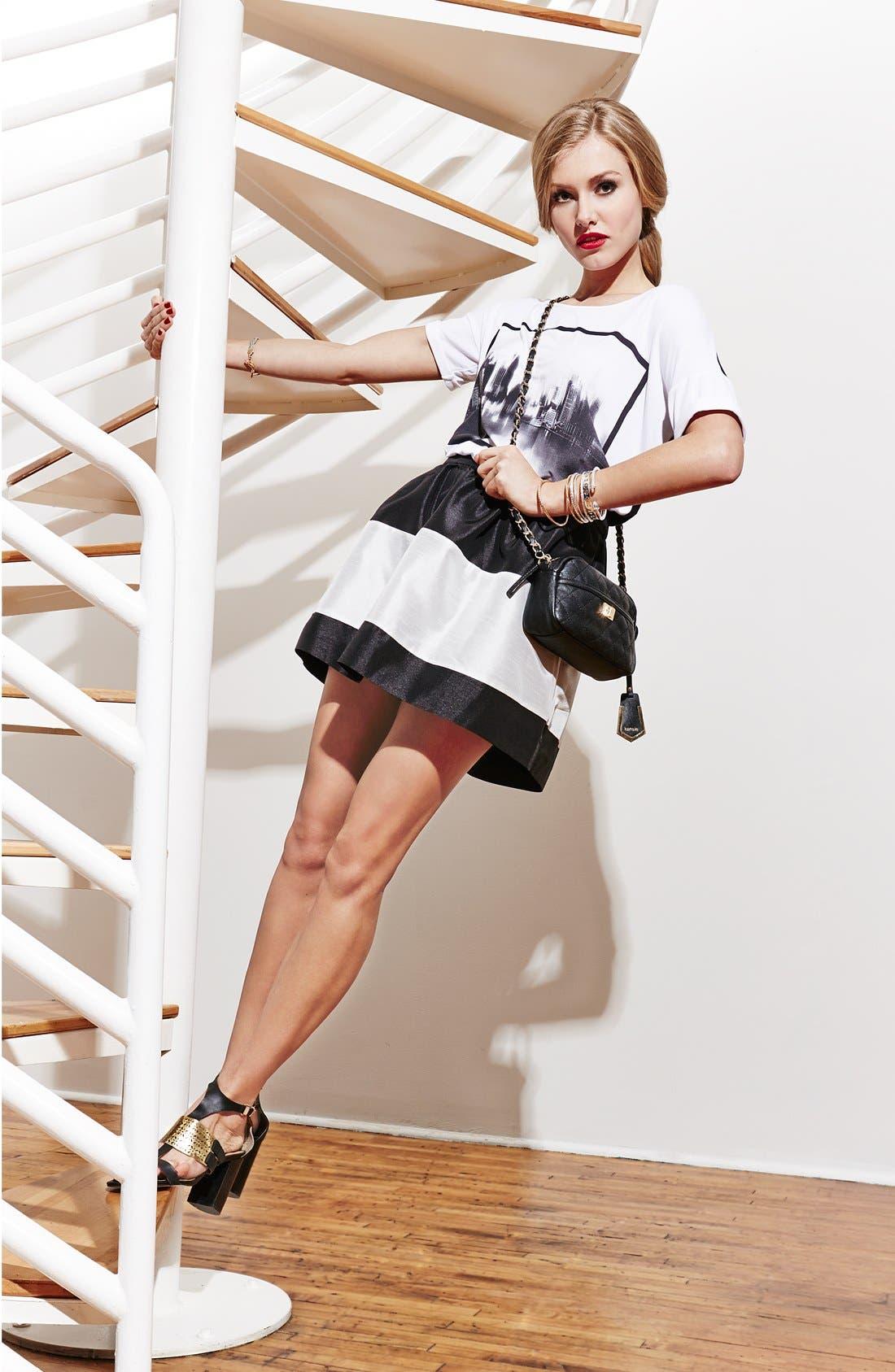 Alternate Image 5  - kensie Colorblock Shantung Skirt